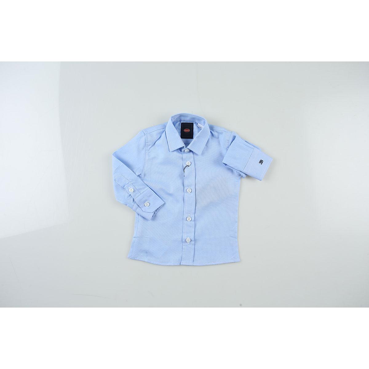 Image of Bugatti Baby Shirts for Boys, Light Blue, Cotton, 2017, 12M 18M 6M 9M