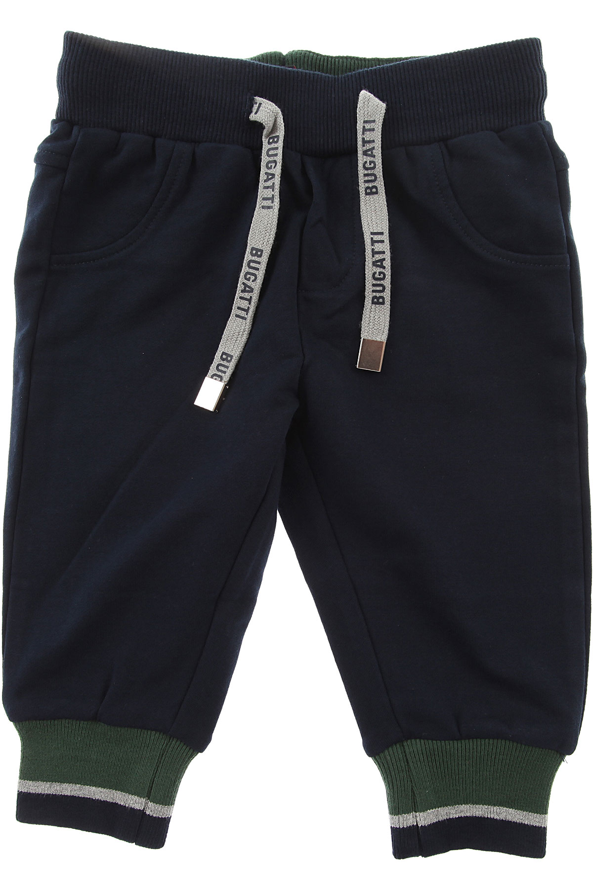 Image of Bugatti Baby Pants for Boys, Blue, Cotton, 2017, 12M 18M 6M 9M