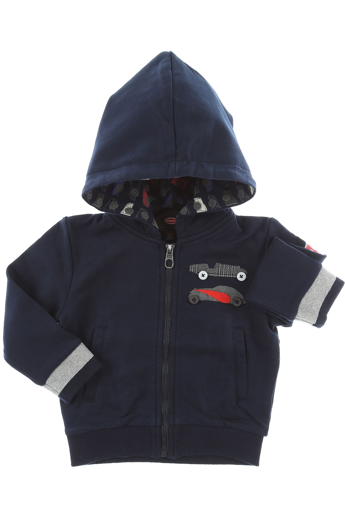 Image of Bugatti Baby Sweatshirts & Hoodies for Boys, Blue, Cotton, 2017, 12M 18M 6M 9M