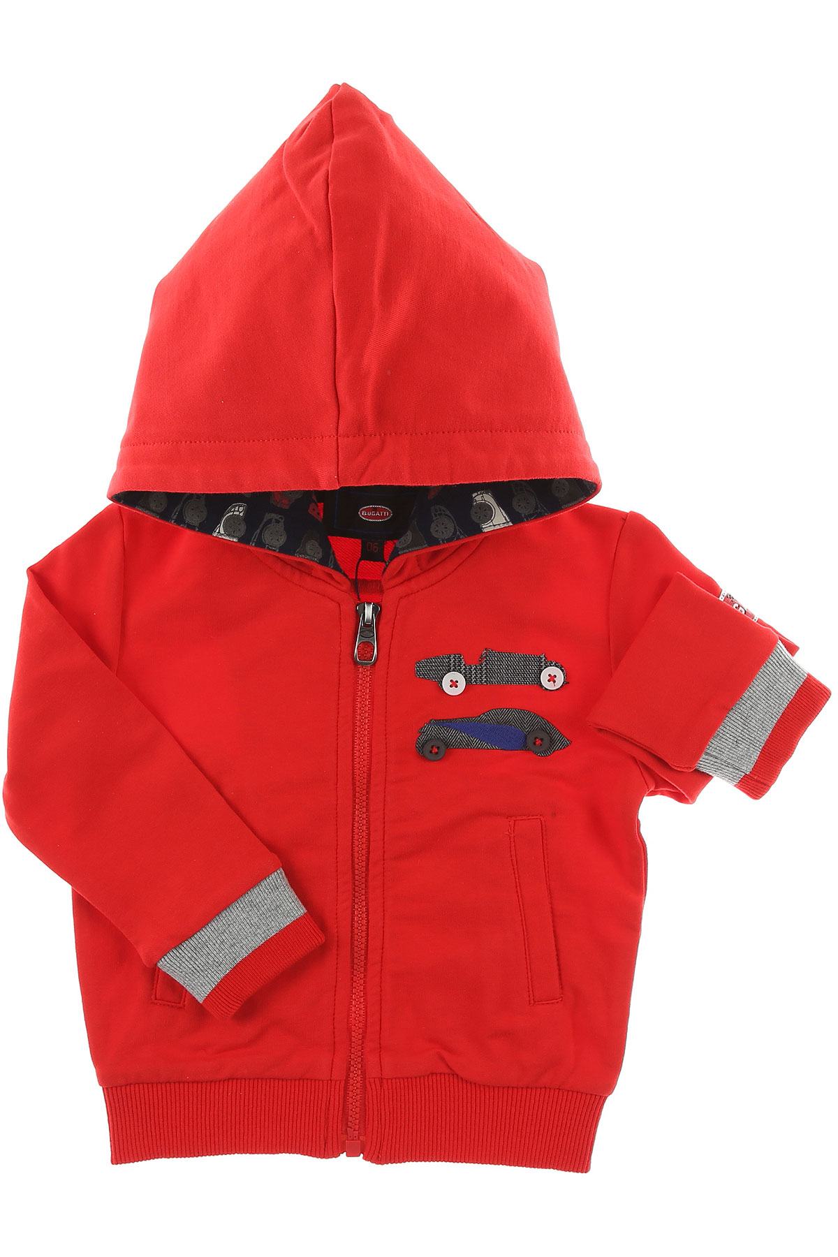 Image of Bugatti Baby Sweatshirts & Hoodies for Boys, Red, Cotton, 2017, 12M 18M 6M 9M