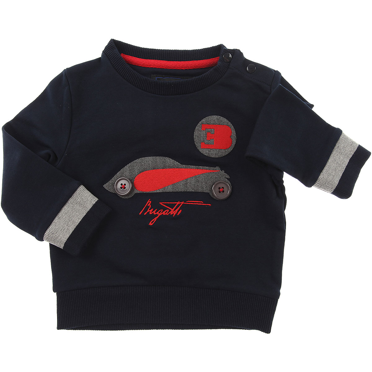 Image of Bugatti Baby Sweaters for Boys, Blue, Cotton, 2017, 12M 18M 6M 9M