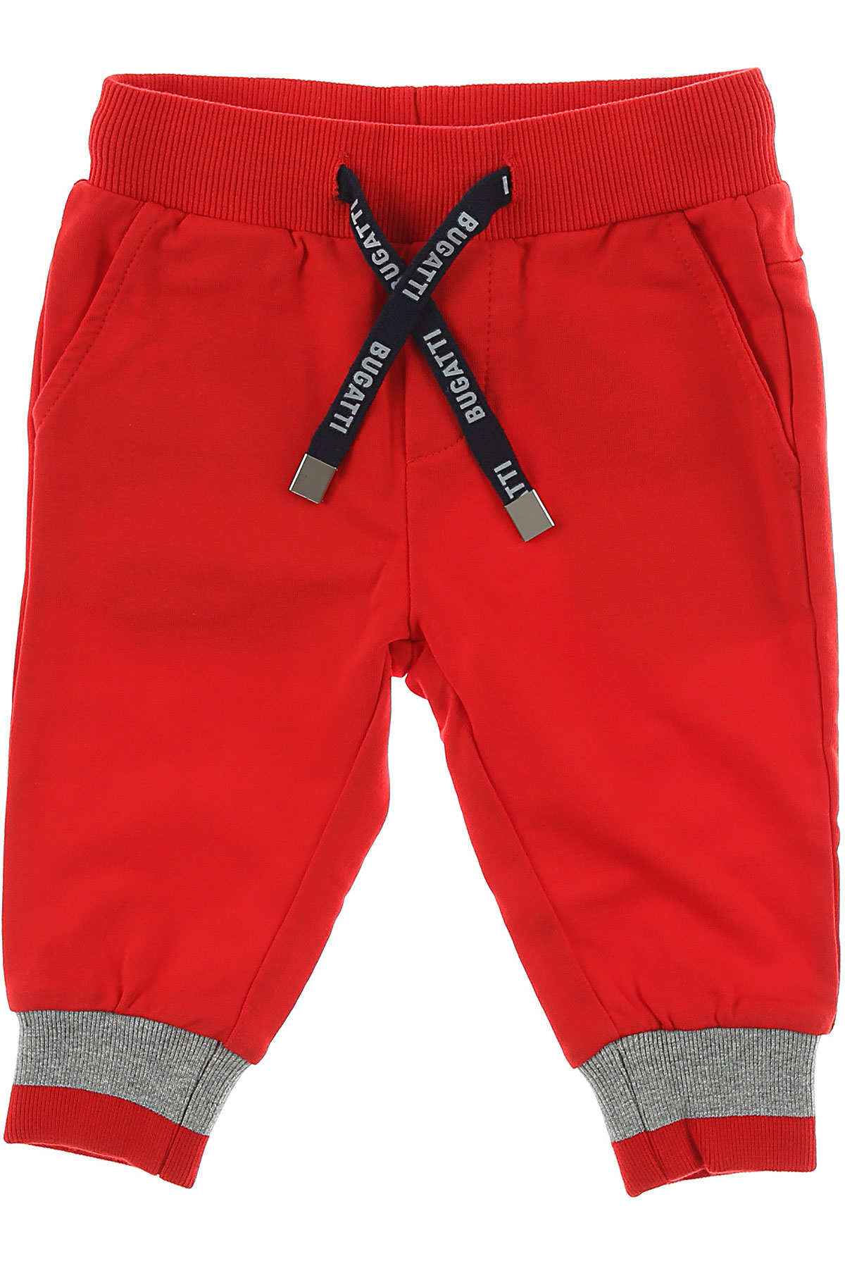 Image of Bugatti Baby Pants for Boys, Red, Cotton, 2017, 12M 18M 6M 9M