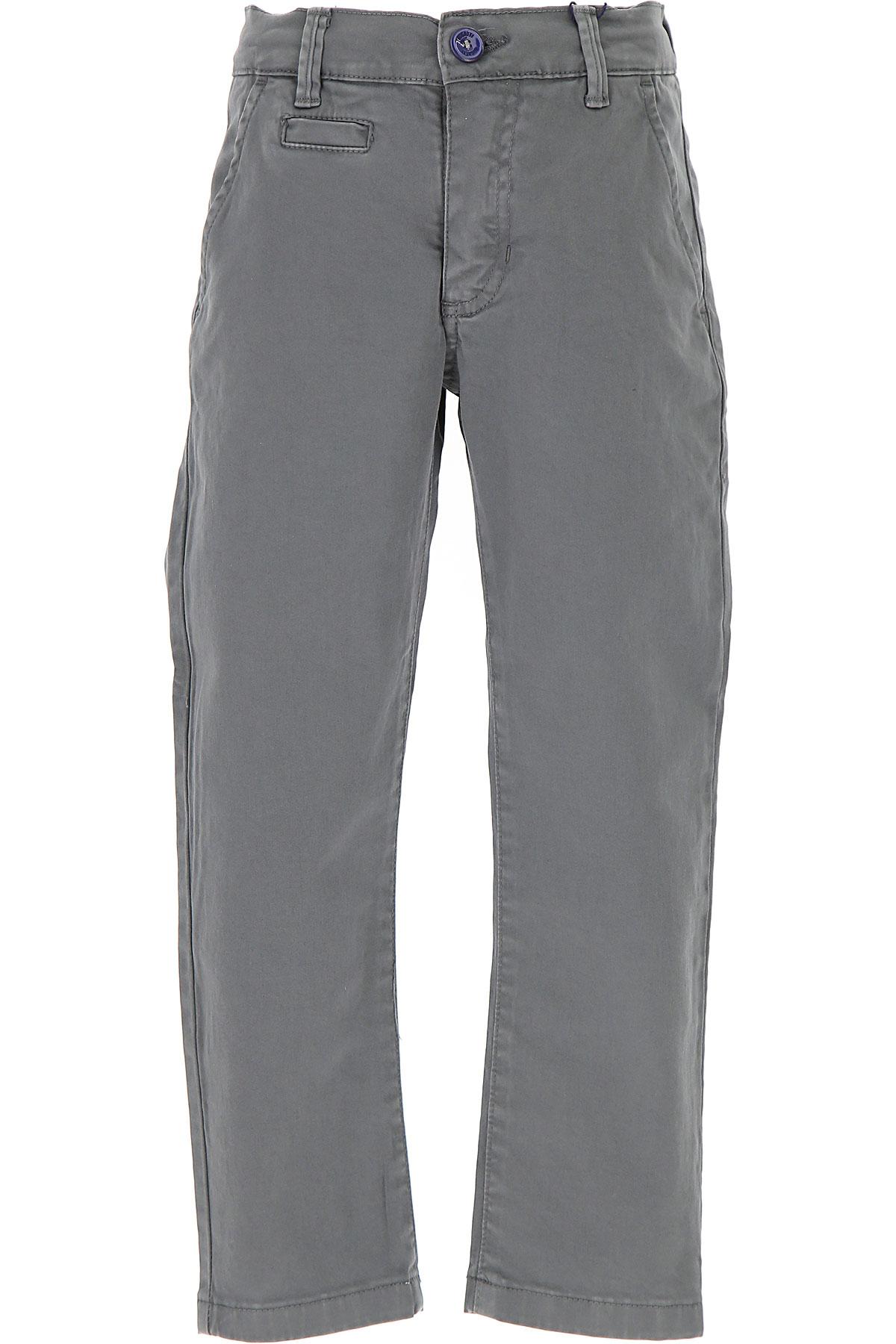 Image of Bugatti Kids Pants for Boys, Grey, Cotton, 2017, 2Y 3Y 4Y 5Y 6Y 7Y