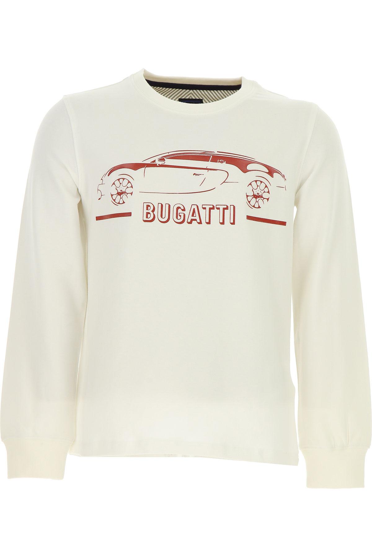 Bugatti Kids T-Shirt for Boys, White, Cotton, 2017, 2Y 3Y 4Y 5Y 6Y 7Y USA-479808
