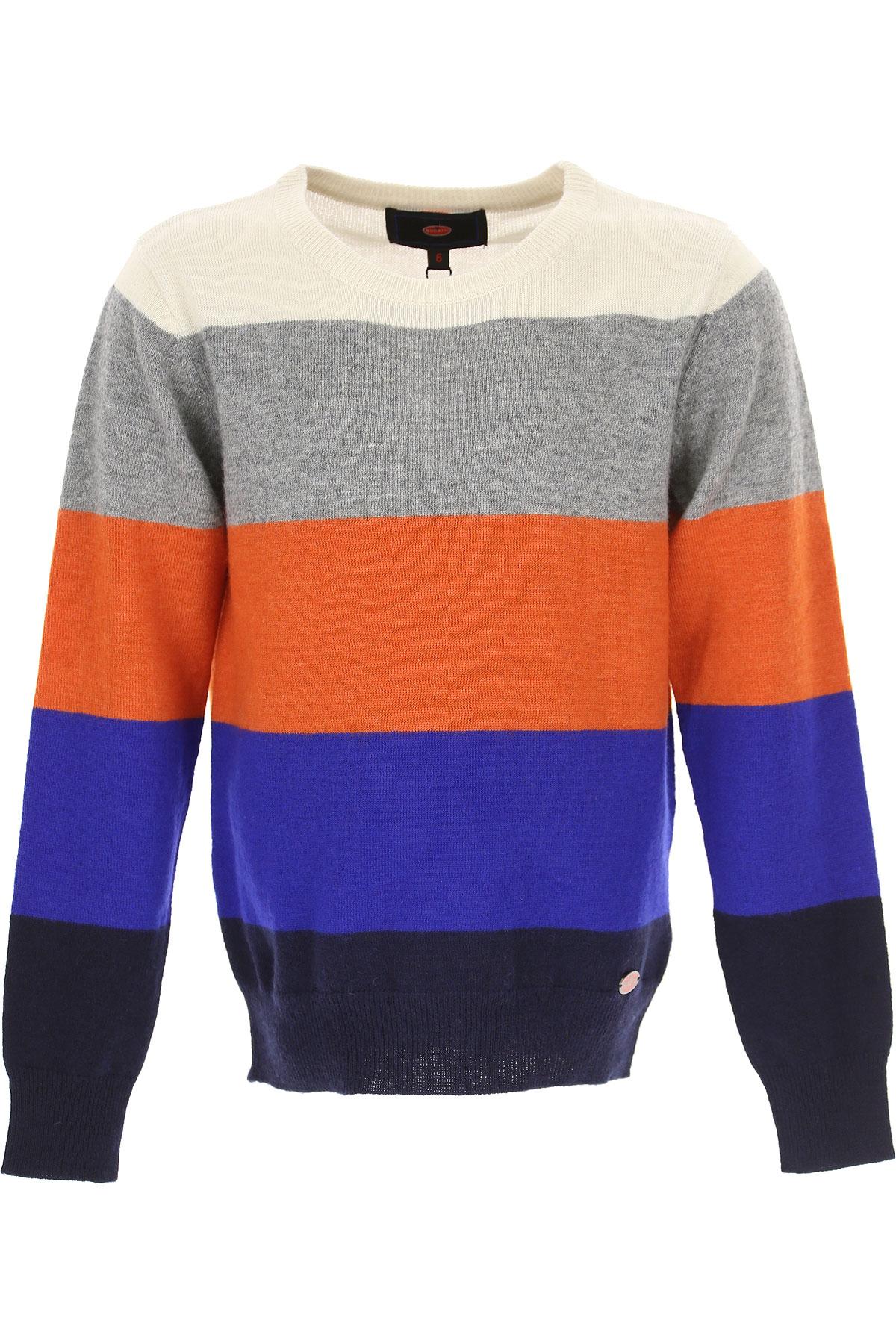 Image of Bugatti Kids Sweaters for Boys, Grey, Wool, 2017, 2Y 3Y 4Y 5Y 6Y 7Y