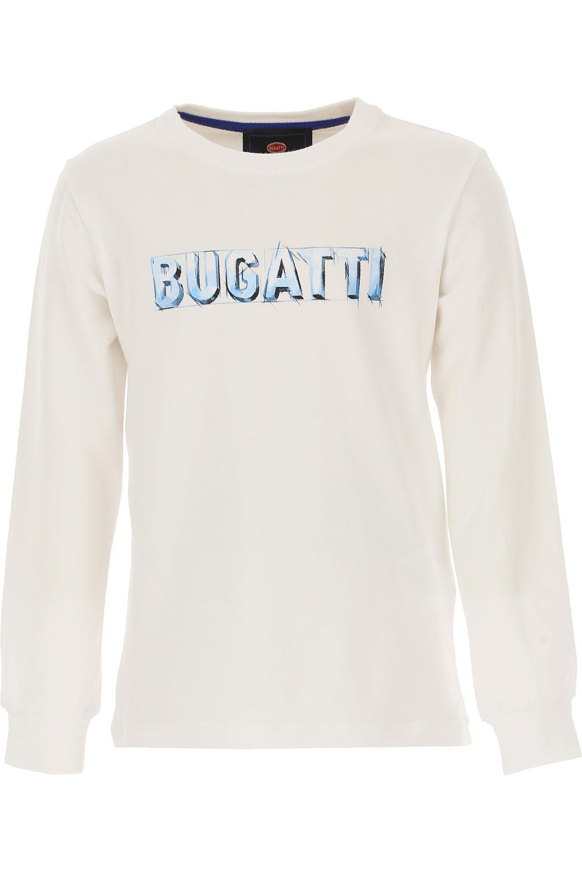 Bugatti Kids T-Shirt for Boys, White, Cotton, 2017, 2Y 3Y 4Y 5Y 6Y 7Y USA-487631