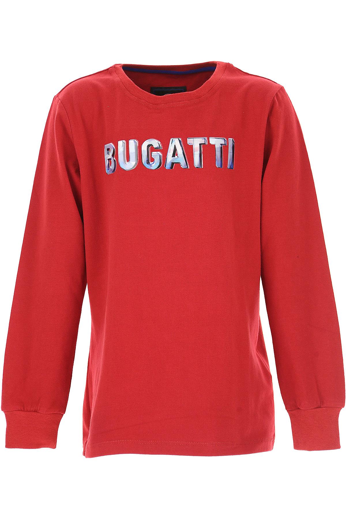 Bugatti Kids T-Shirt for Boys, Red, Cotton, 2017, 10Y 14Y 16Y 8Y USA-487567