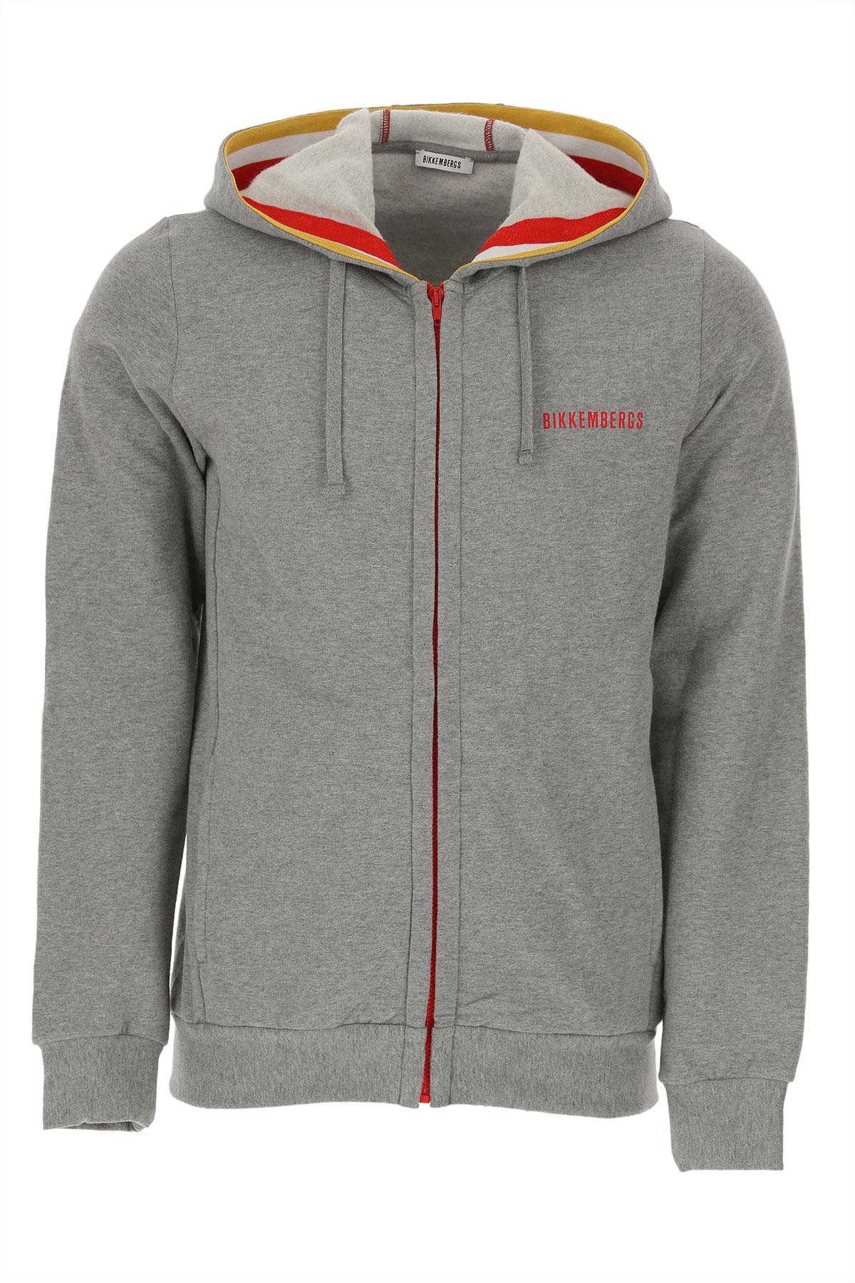 Bikkembergs Sweatshirt for Men On Sale in Outlet, Melange Grey, Cotton, 2019, L S