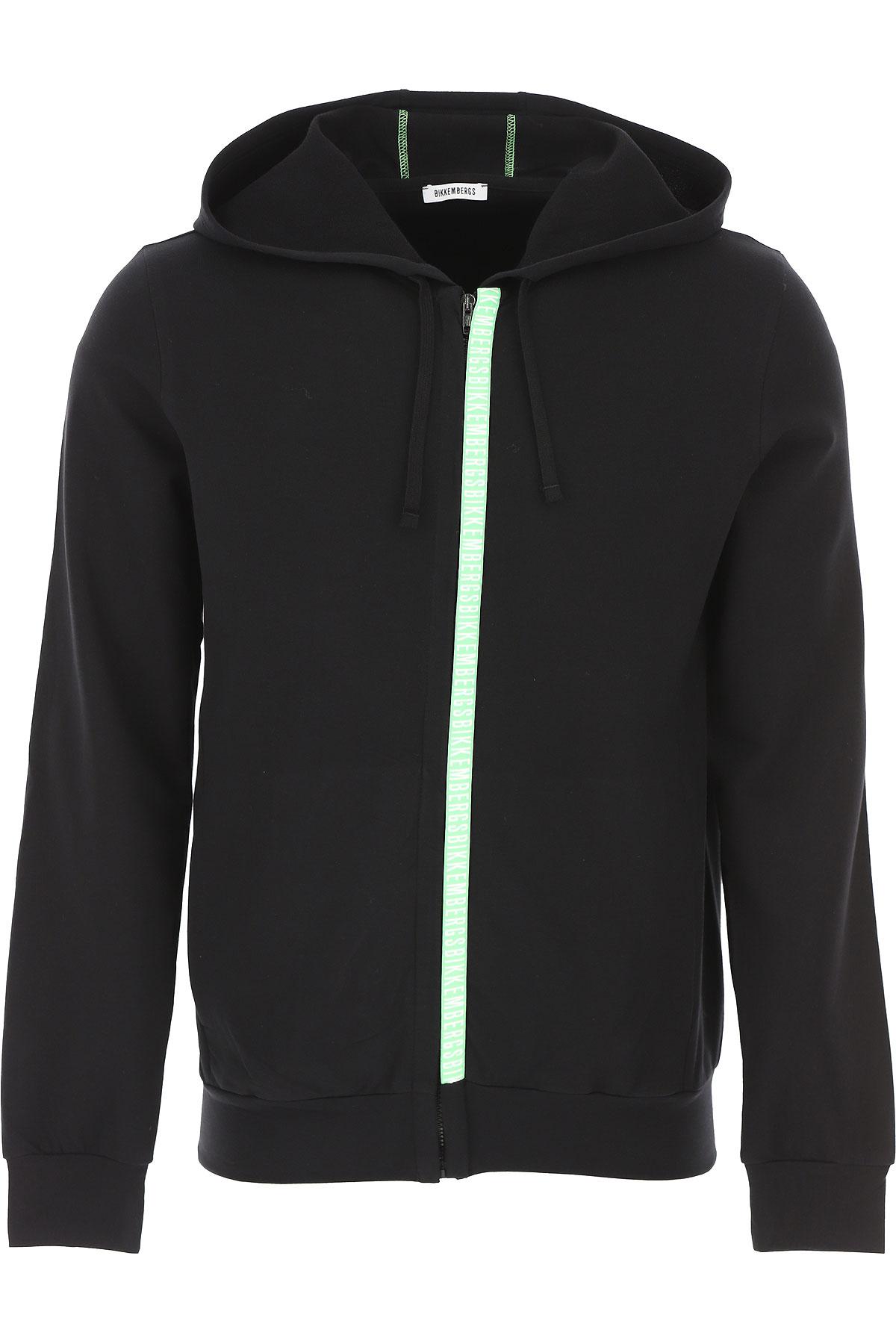 Bikkembergs Sweatshirt for Men On Sale, Black, Cotton, 2019, L M S XL