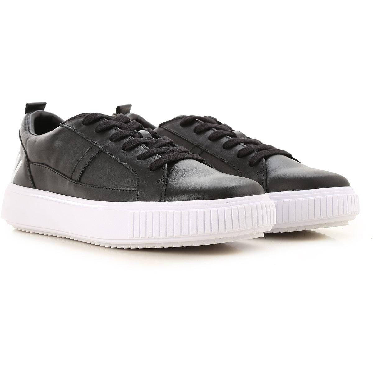 Dirk Bikkembergs Sneaker Homme Pas cher en Soldes, Noir, Cuir, 2019, 40 41 42 43 44