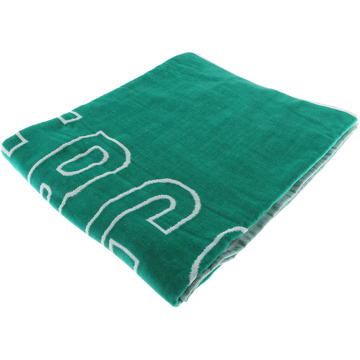 Image of Dirk Bikkembergs Beach Towel On Sale, Green, Cotton, 2017