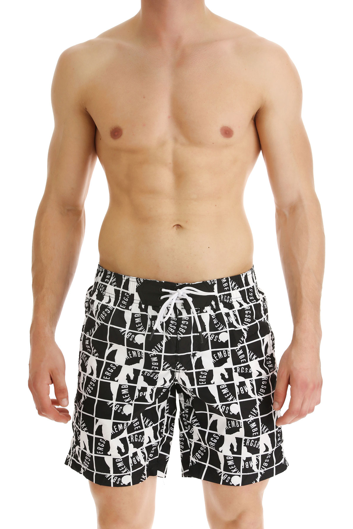 Bikkembergs Swim Shorts Trunks for Men On Sale in Outlet, Black, polyester, 2019, S M XL