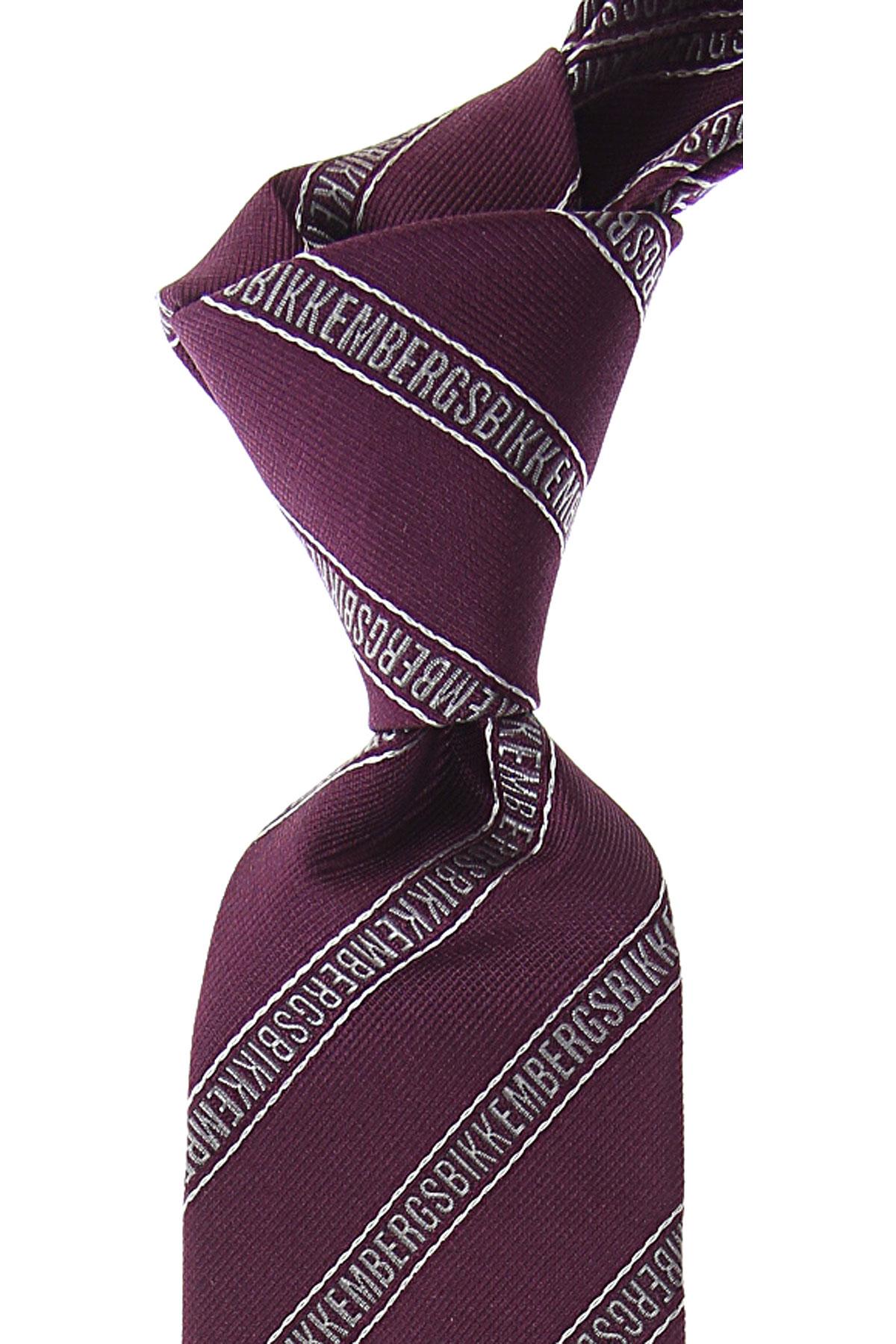 Bikkembergs Ties On Sale, Dark Traffic Purple, Silk, 2019