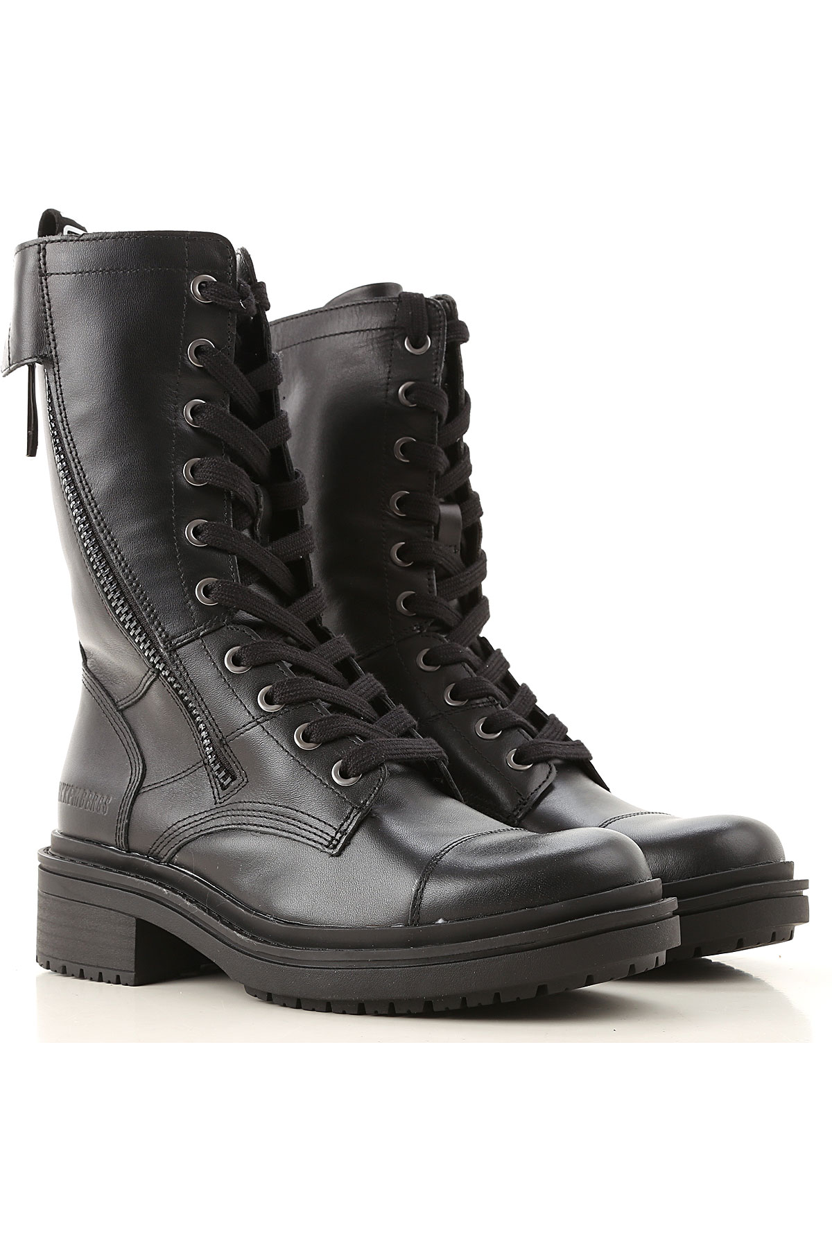 Dirk Bikkembergs Boots for Women, Booties On Sale, Black, Leather, 2019, 6 9