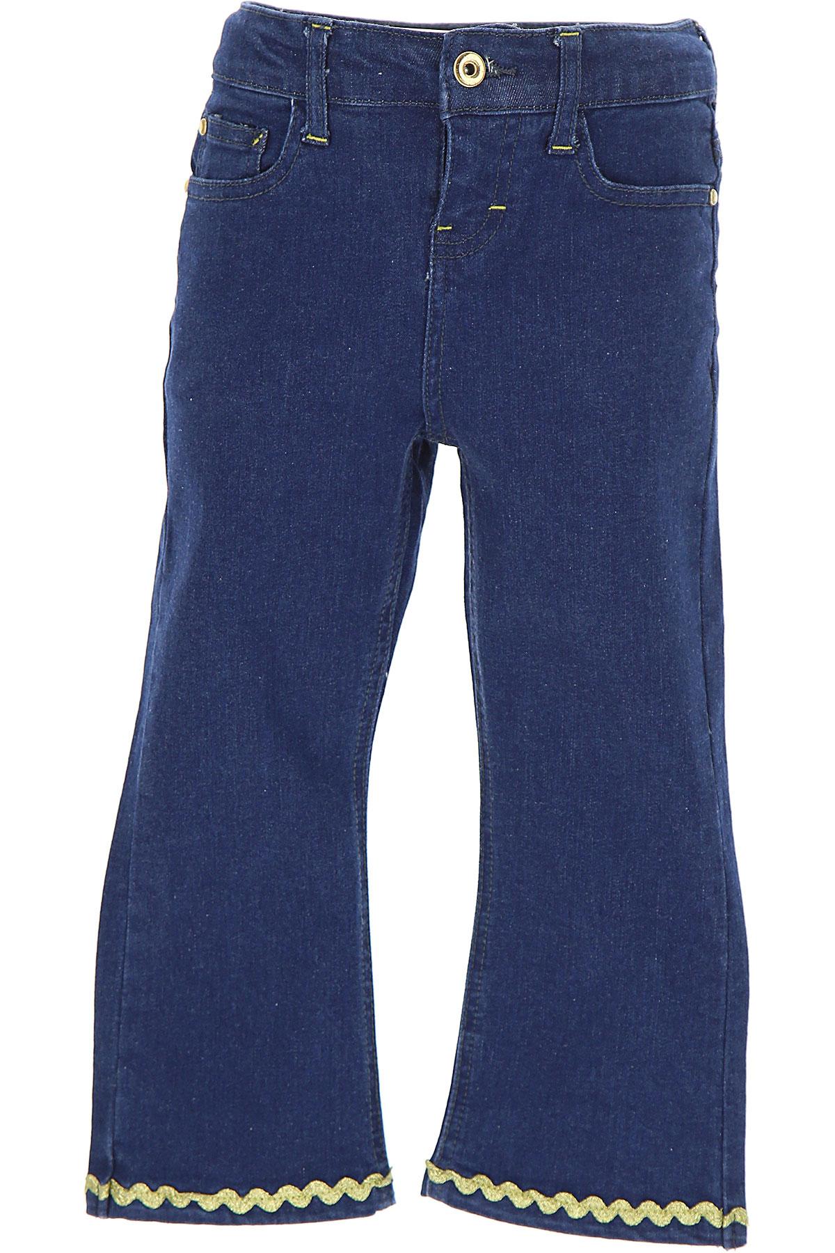 Image of Billieblush Kids Jeans for Girls, Blue Denim, Cotton, 2017, 4Y 6Y