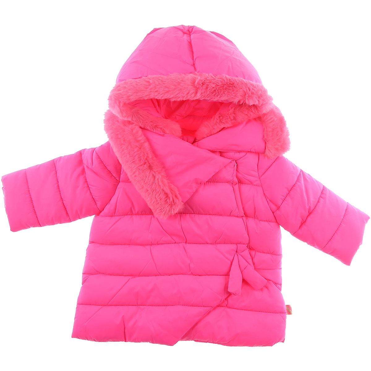 Image of Billieblush Girls Down Jacket for Kids, Puffer Ski Jacket, Fluo Pink, polyamide, 2017, 2Y 3Y