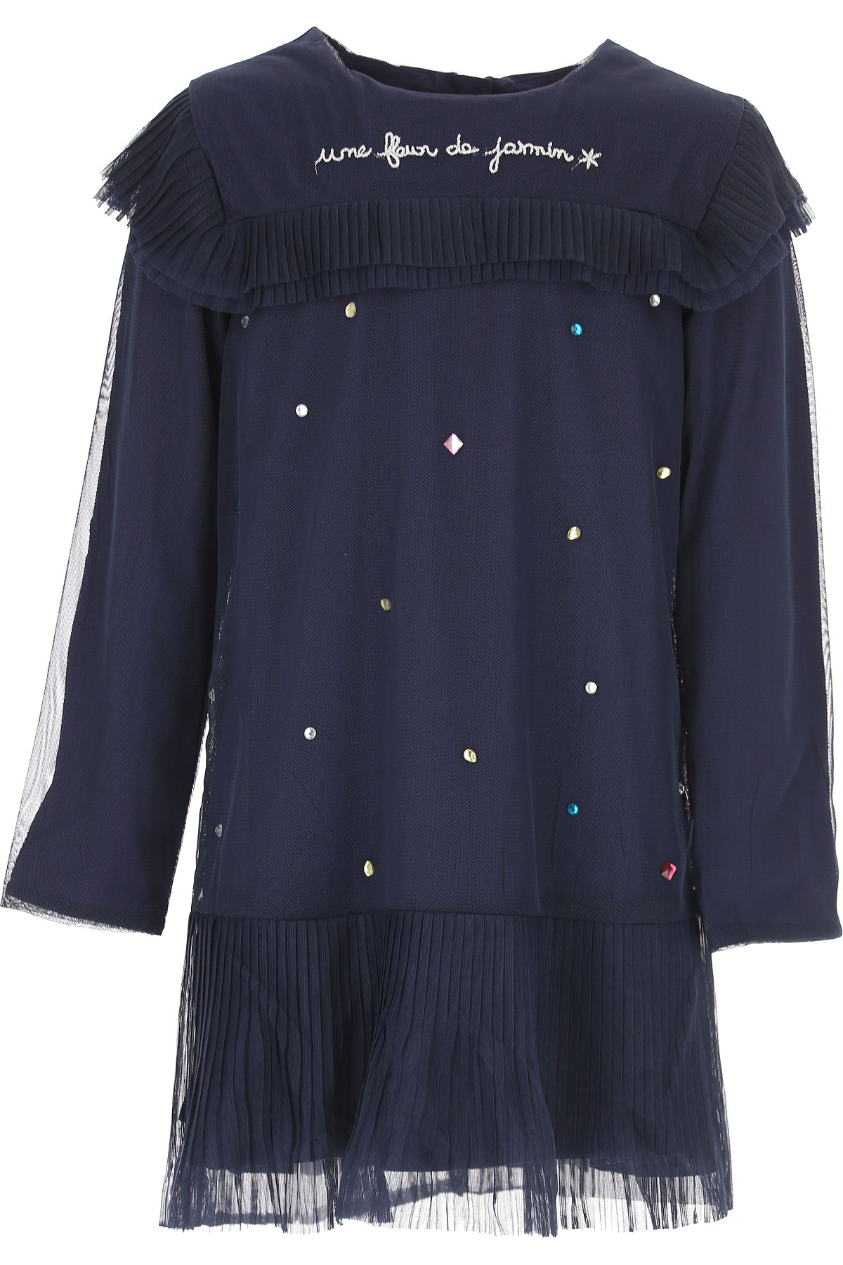 Image of Billieblush Girls Dress, Blue, polyester, 2017, 10Y 4Y 6Y 8Y