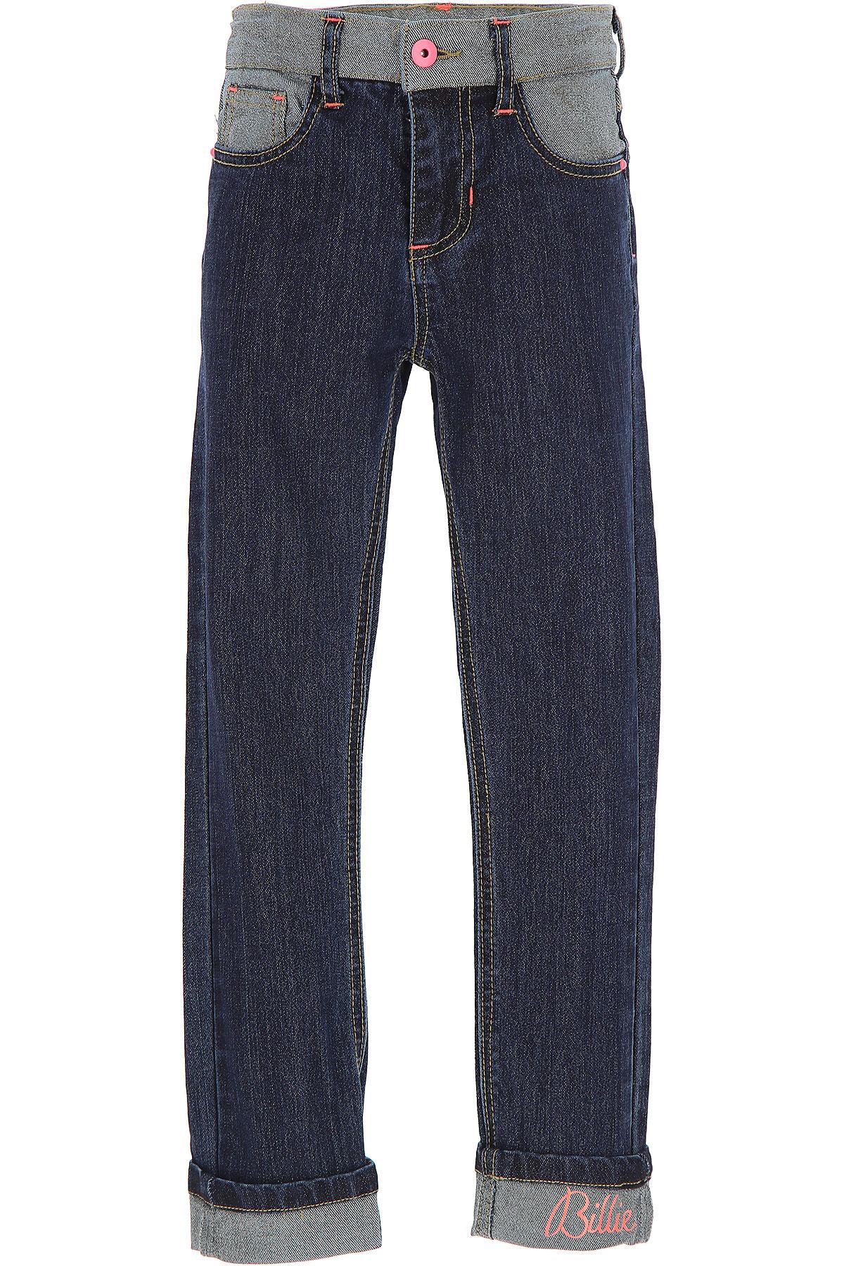 Image of Billieblush Kids Jeans for Girls, Denim, Cotton, 2017, 10Y 2Y 4Y 5Y 6Y 8Y