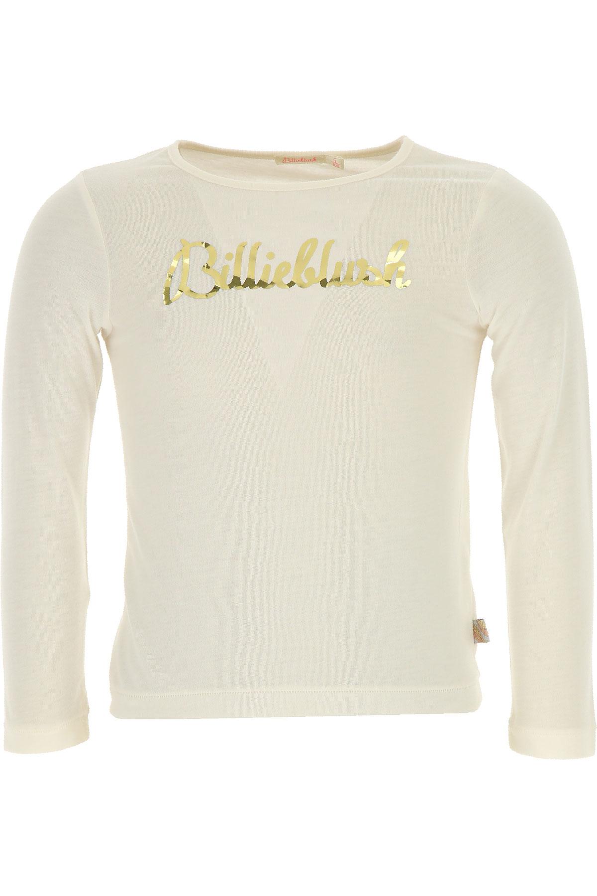 Image of Billieblush Kids T-Shirt for Girls, Ivory, polyester, 2017, 10Y 2Y 3Y 4Y 5Y 6Y 8Y
