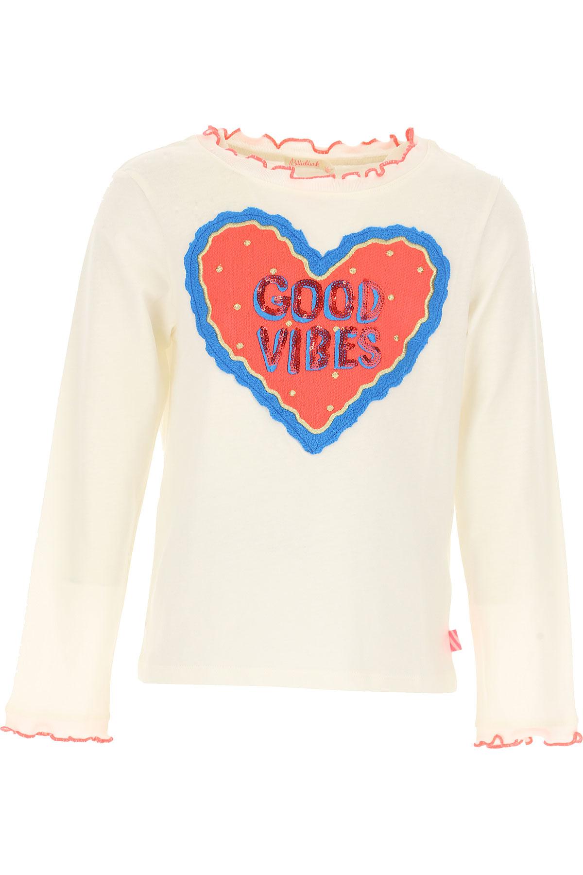 Image of Billieblush Kids T-Shirt for Girls, White, Cotton, 2017, 10Y 3Y 4Y 5Y 6Y 8Y