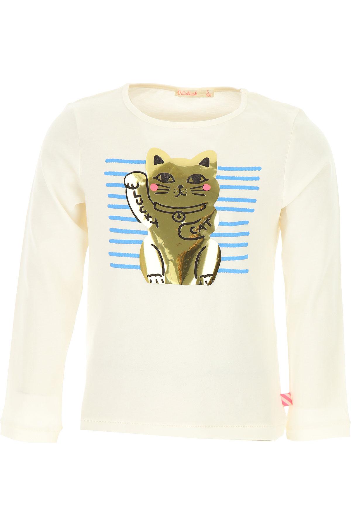 Image of Billieblush Kids T-Shirt for Girls, White, Cotton, 2017, 10Y 14Y 4Y 5Y 6Y 8Y