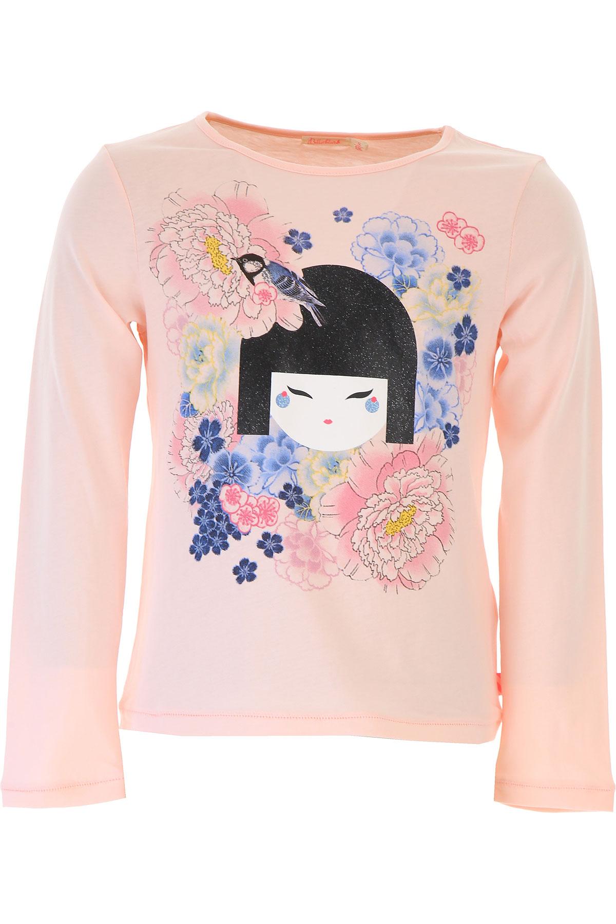 Image of Billieblush Kids T-Shirt for Girls, Pink, Cotton, 2017, 10Y 2Y 4Y 5Y 6Y 8Y