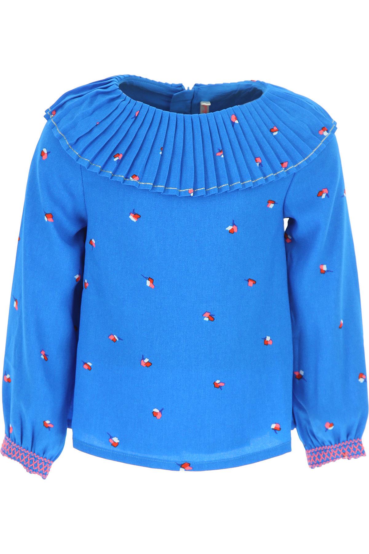 Image of Billieblush Kids Shirts for Girls, Blue, polyester, 2017, 10Y 2Y 4Y 5Y 6Y 8Y