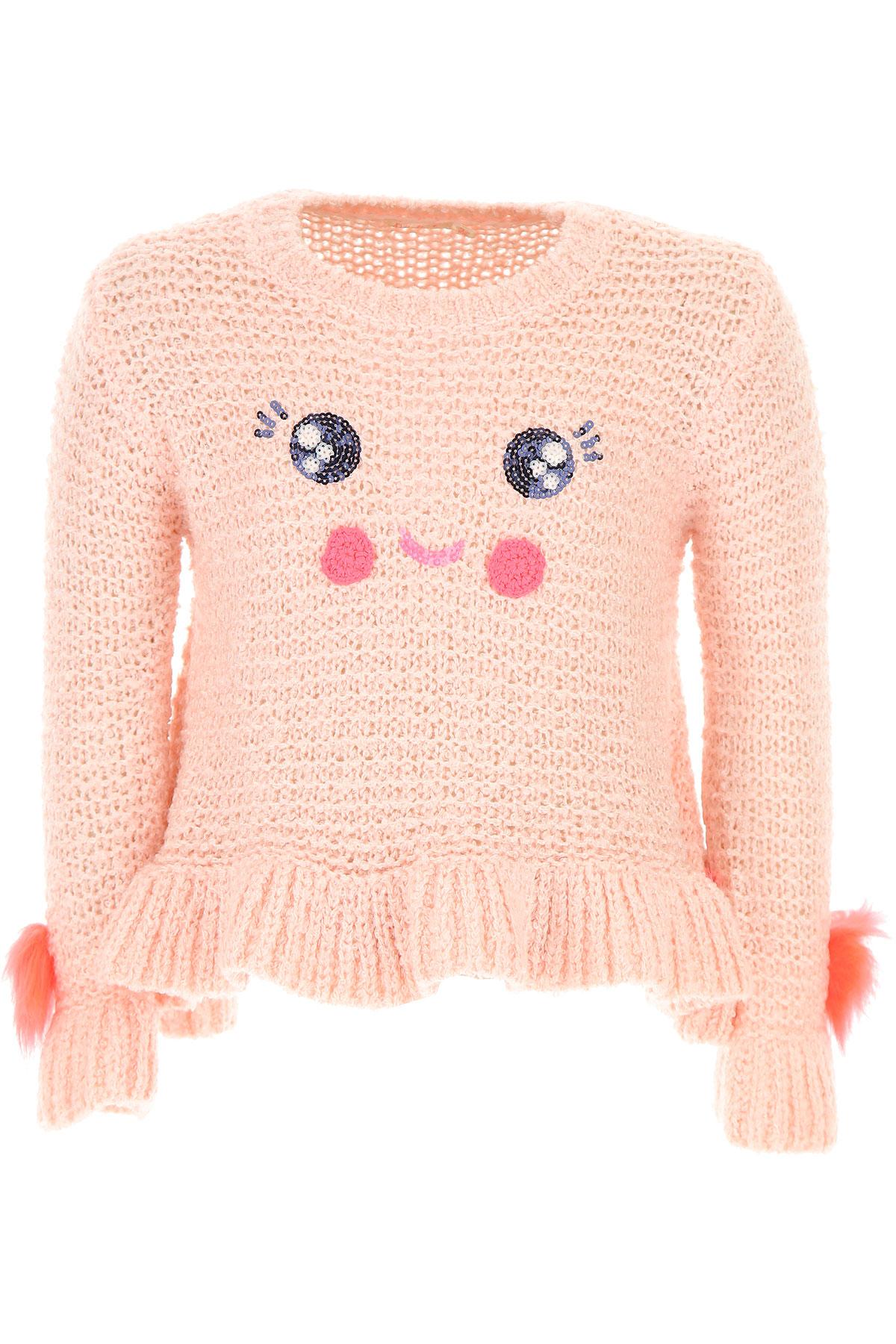 Image of Billieblush Kids Sweaters for Girls, Pink, Acrylic, 2017, 10Y 2Y 4Y 6Y 8Y