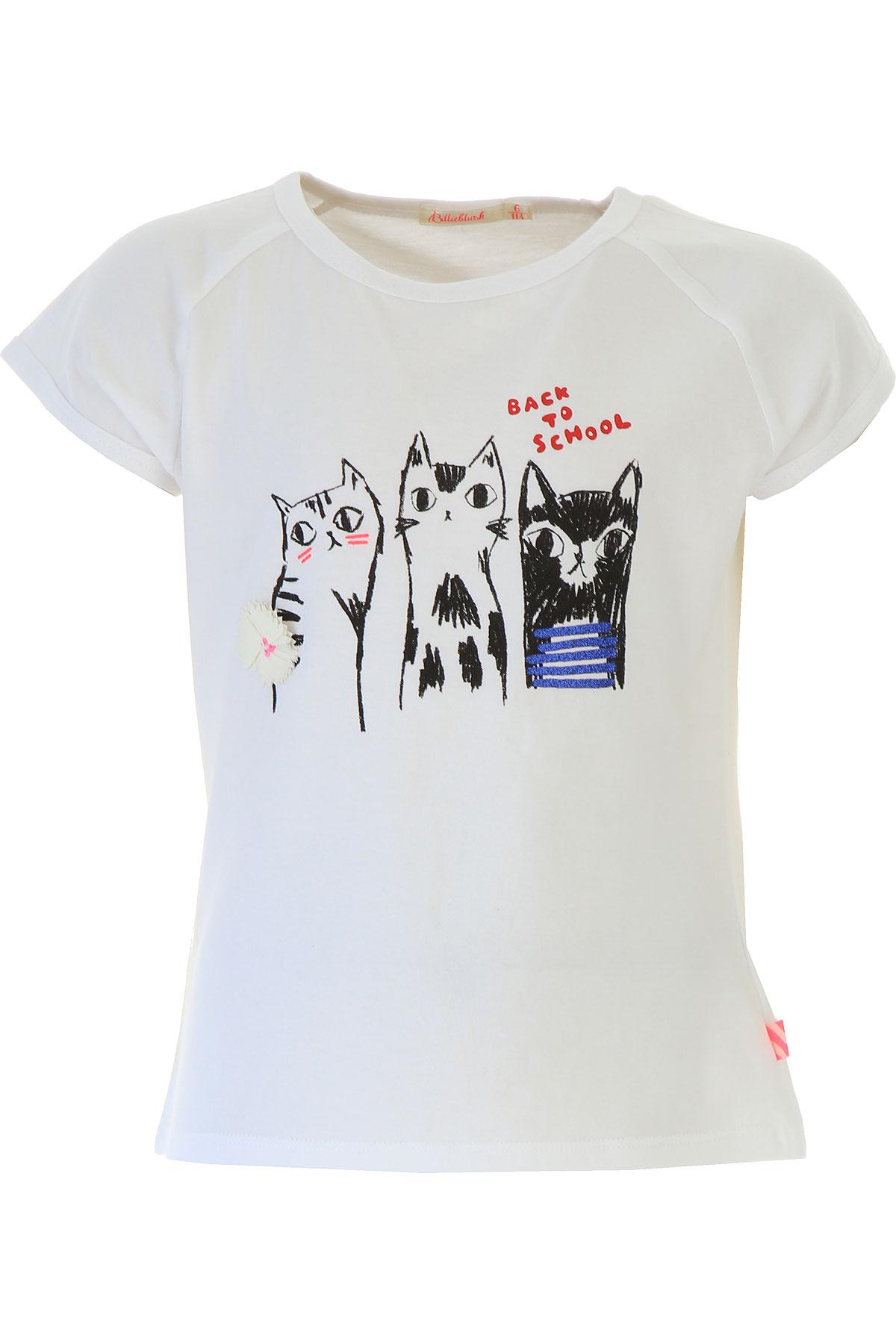 Image of Billieblush Kids T-Shirt for Girls, White, Cotton, 2017, 10Y 4Y 5Y 6Y 8Y