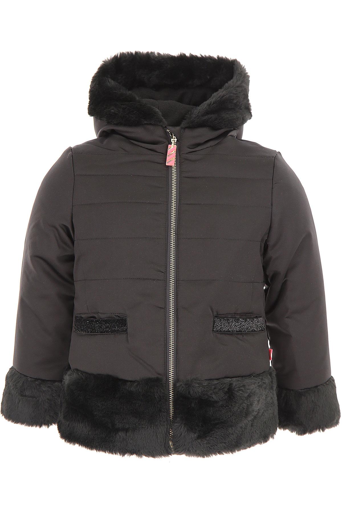 Image of Billieblush Girls Down Jacket for Kids, Puffer Ski Jacket, Black, polyester, 2017, 10Y 2Y 3Y 4Y 5Y 6Y 8Y