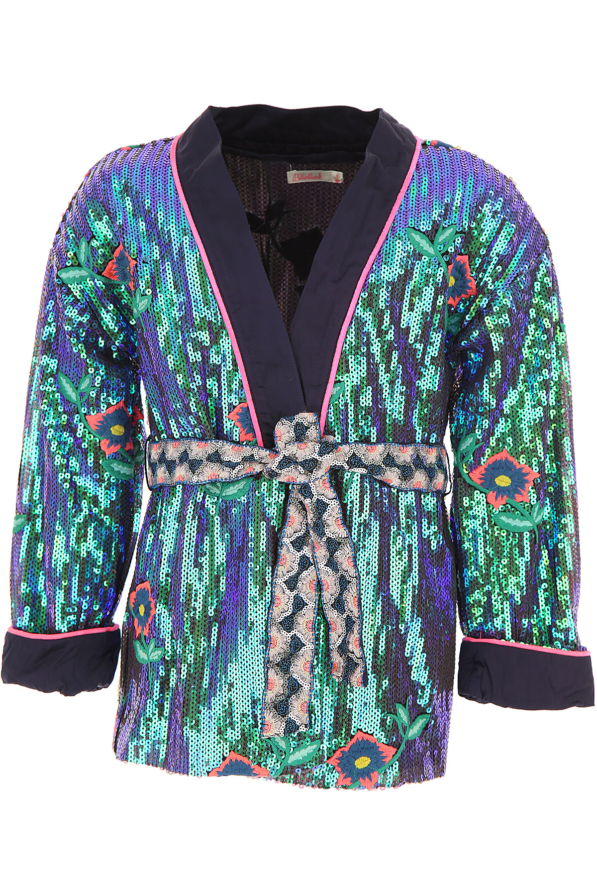 Image of Billieblush Kids Jacket for Girls, Blue, polyester, 2017, 6Y 8Y