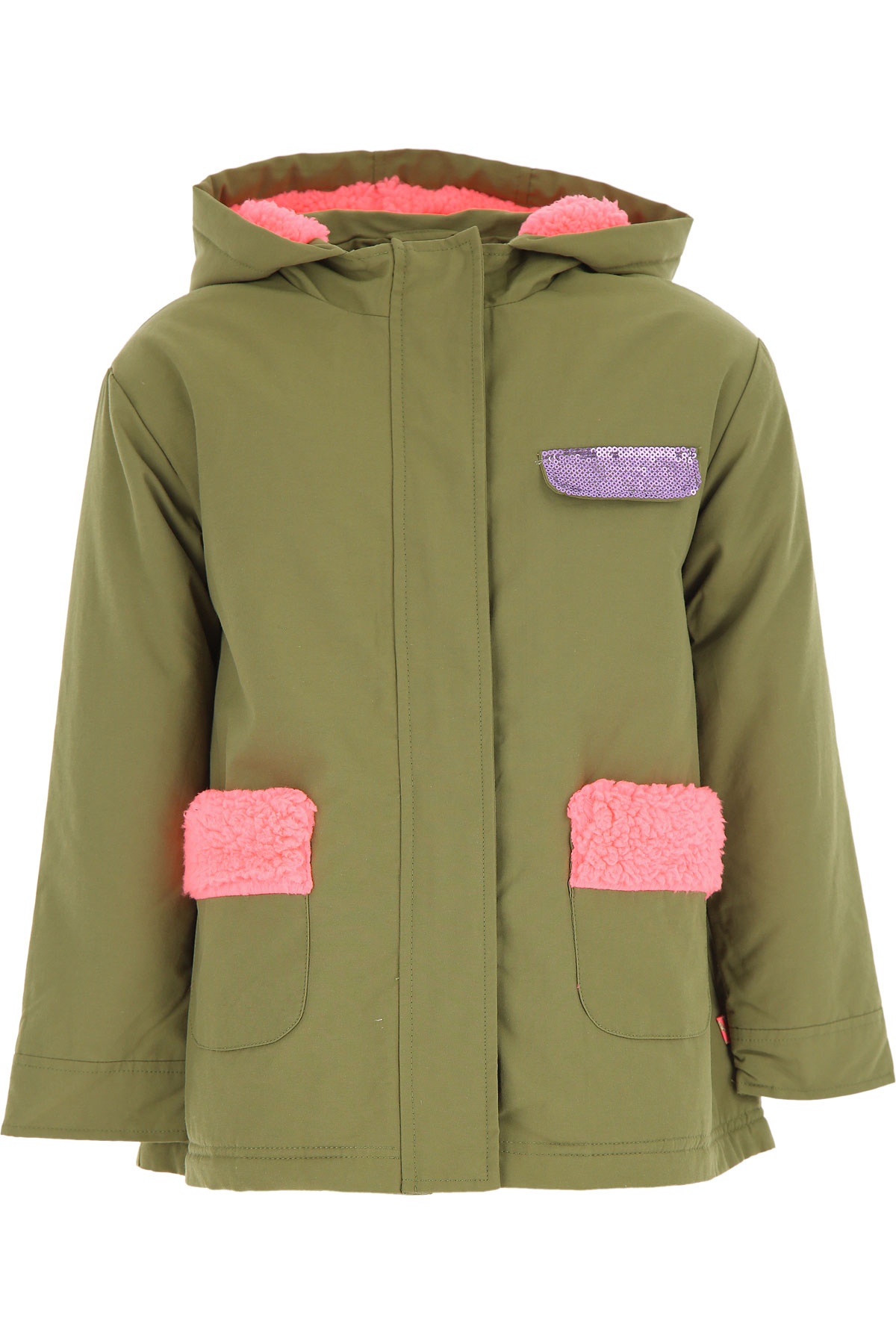 Billieblush {DESIGNER} Kids Coat for Girls On Sale, Military Green, Cotton, 2019, 10Y 12Y 2Y 3Y 4Y 6Y 8Y
