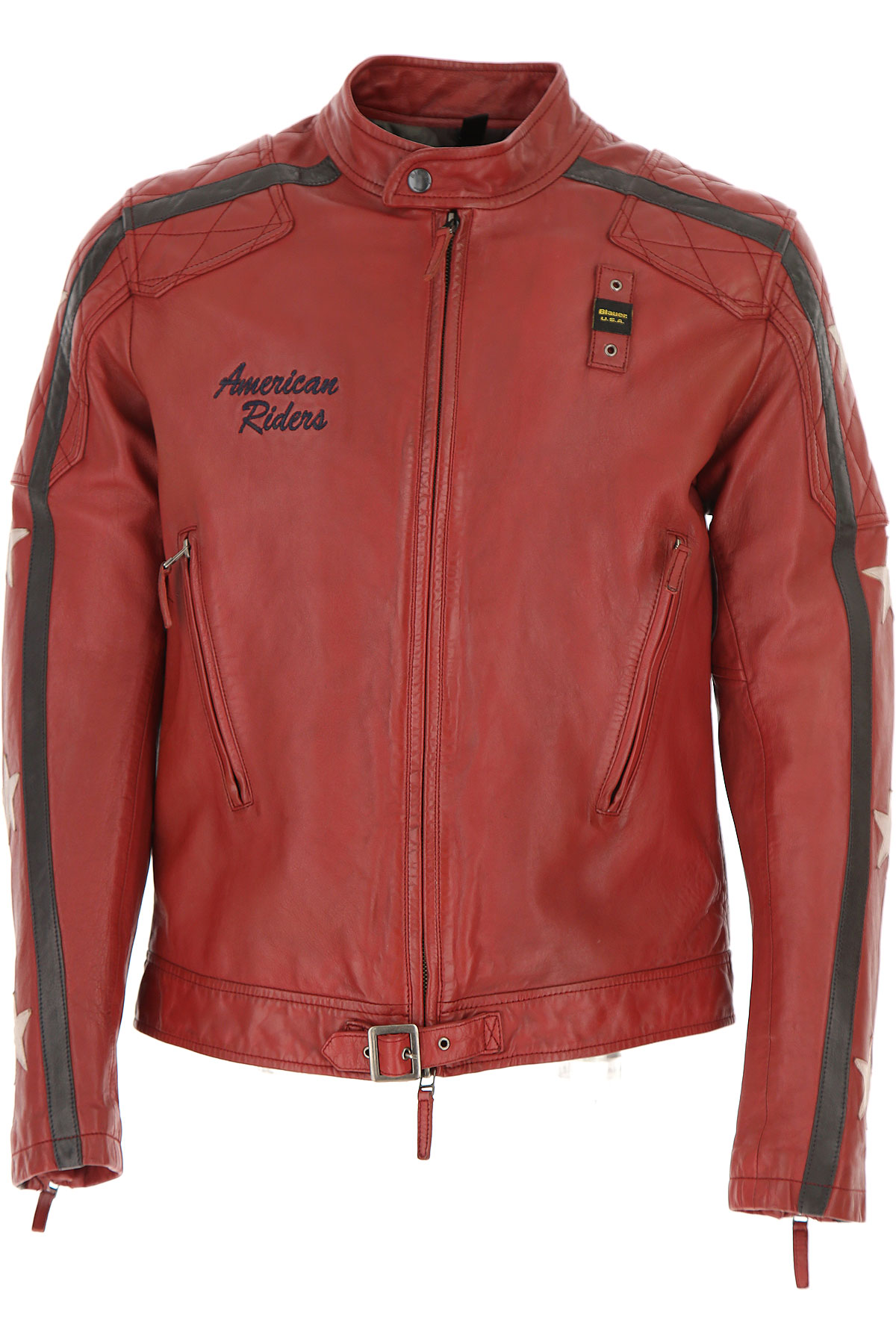 Image of Blauer Jacket for Men On Sale, Red, Leather, 2017, L M S XL