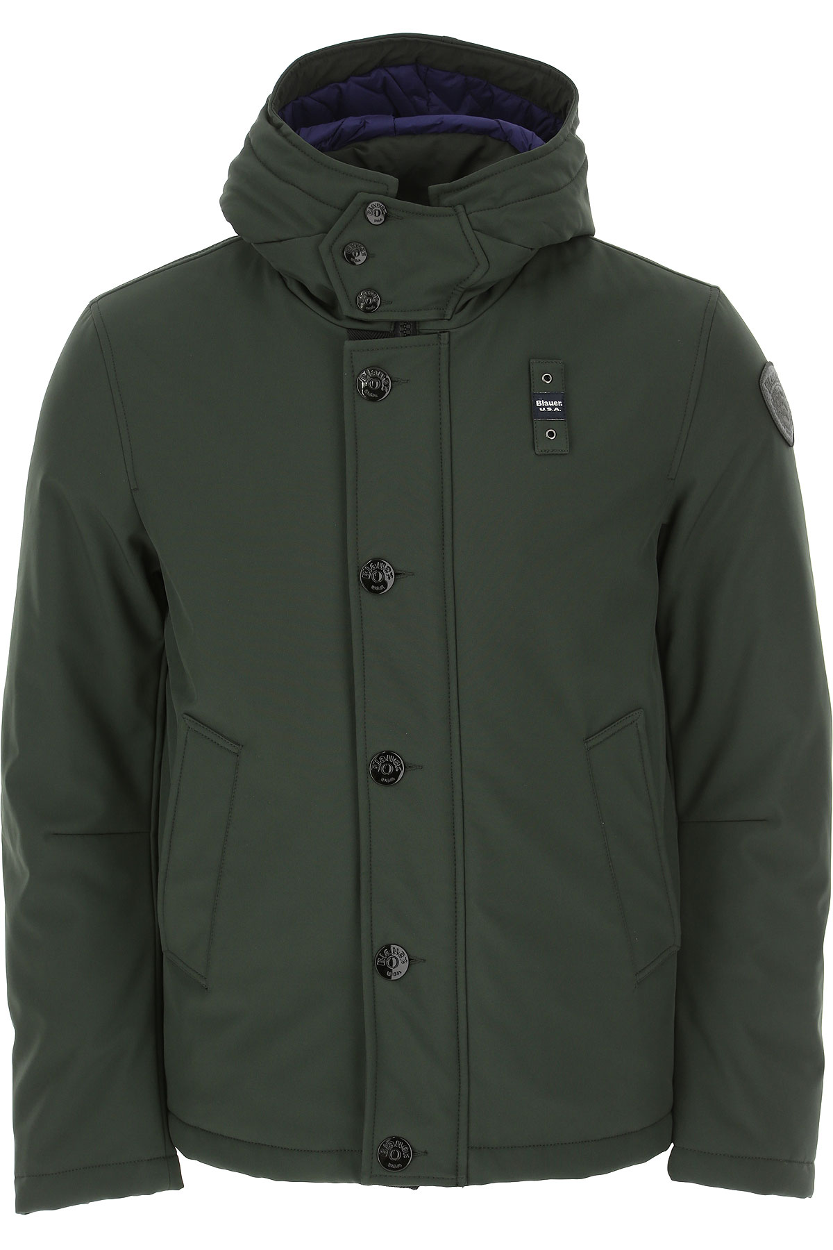 Blauer Jacket for Men On Sale, Forest Green, polyester, 2019, L M S XL