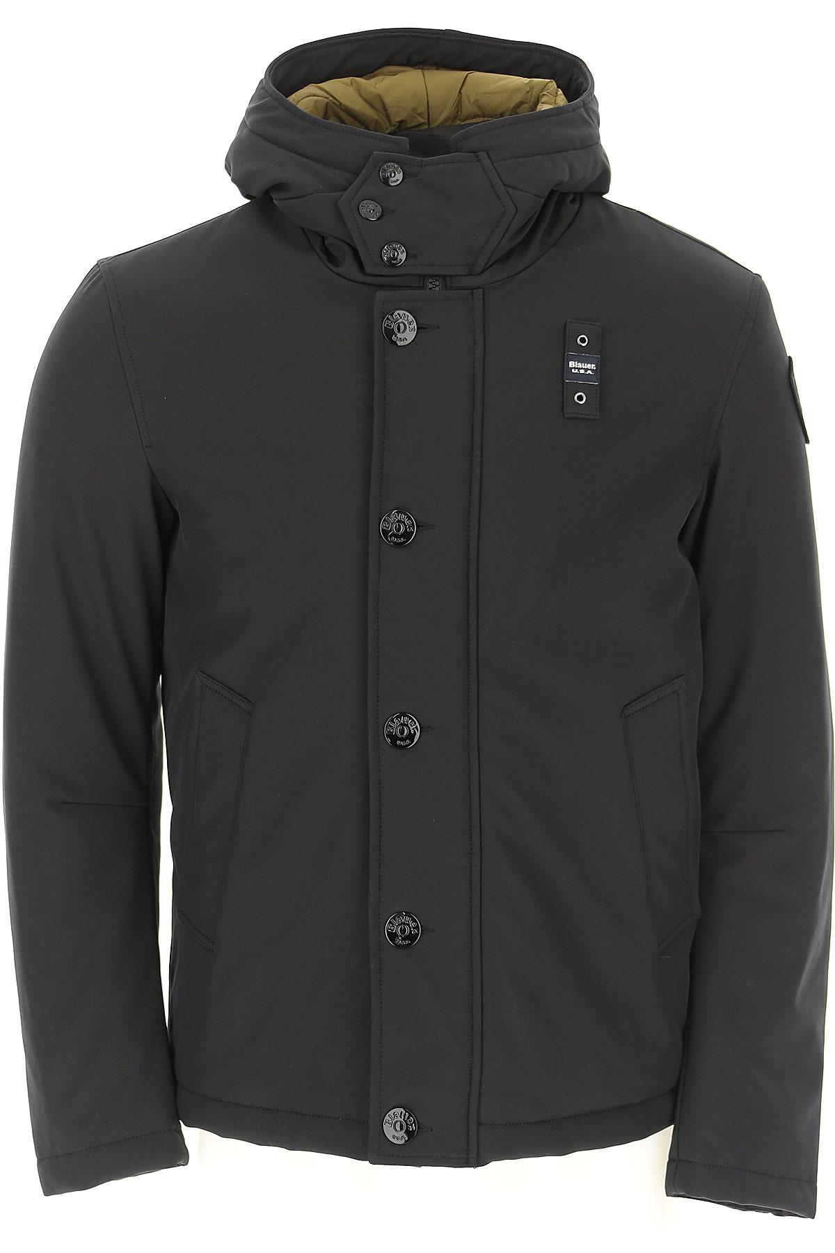 Blauer Down Jacket for Men, Puffer Ski Jacket On Sale, Black, polyester, 2019, M S XL XXL