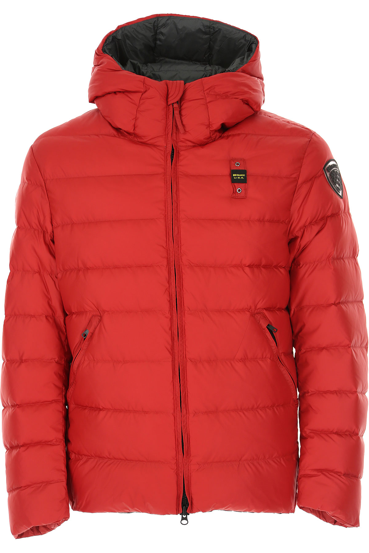 Blauer Down Jacket for Men, Puffer Ski Jacket On Sale, Fire Red, polyamide, 2019, L S