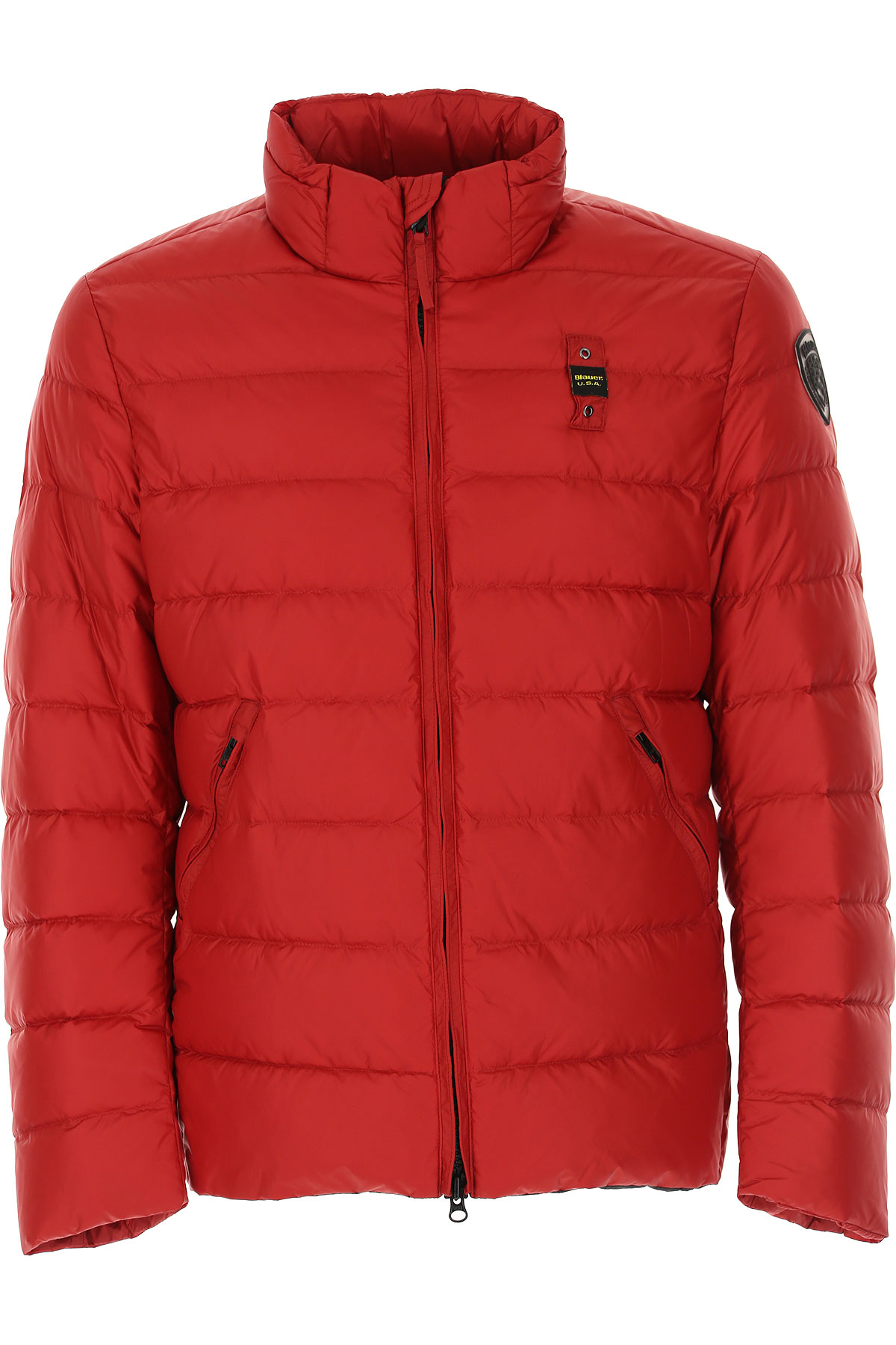 Blauer Down Jacket for Men, Puffer Ski Jacket On Sale, Flame Red, polyester, 2019, M XL