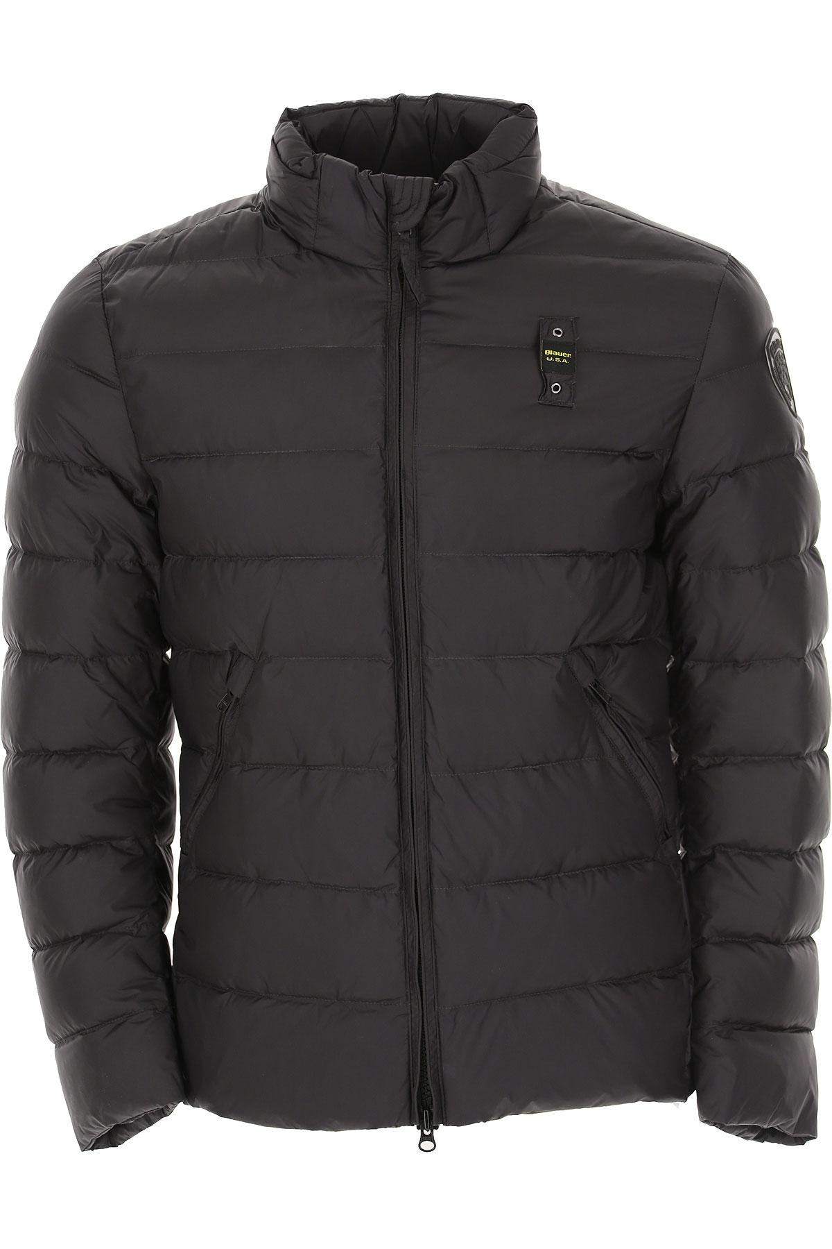 Blauer Down Jacket for Men, Puffer Ski Jacket On Sale, Ink Blue, polyester, 2019, L M S XL