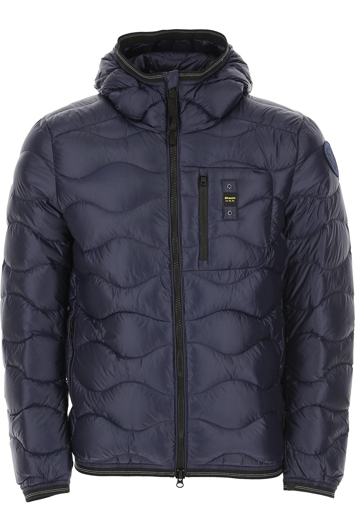 Blauer Down Jacket for Men, Puffer Ski Jacket On Sale, Night Blue, polyamide, 2019, L M S XL XXL