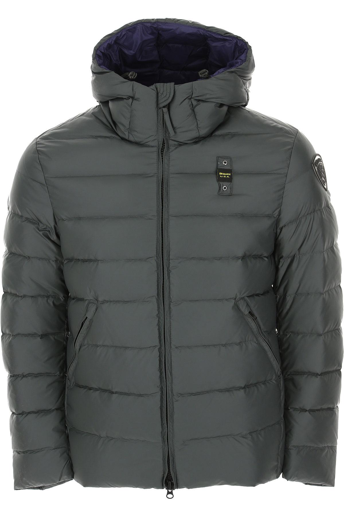 Blauer Down Jacket for Men, Puffer Ski Jacket On Sale, Bottle Green, polyamide, 2019, L M S XL