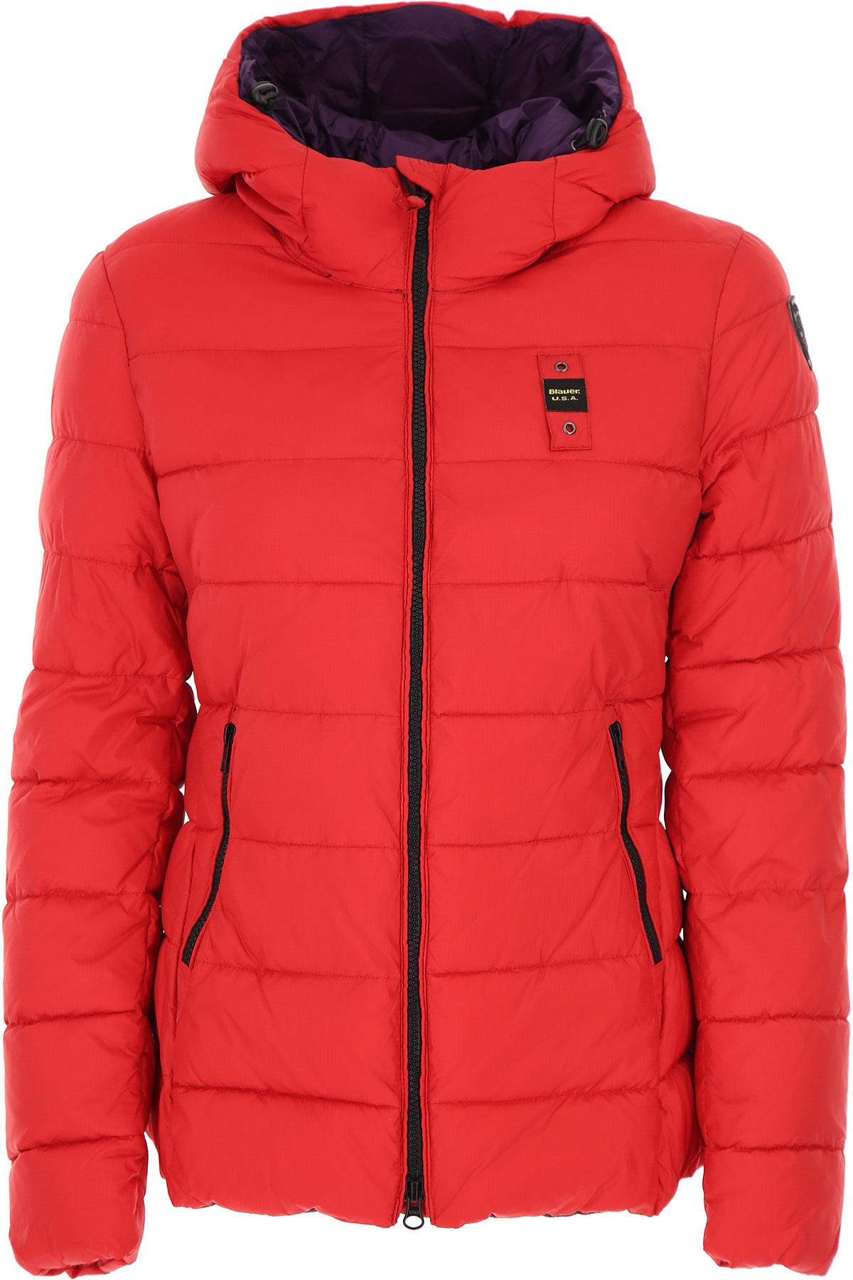 Blauer Down Jacket for Women, Puffer Ski Jacket On Sale, Strawberry, polyester, 2019, 10 2 4 6 8
