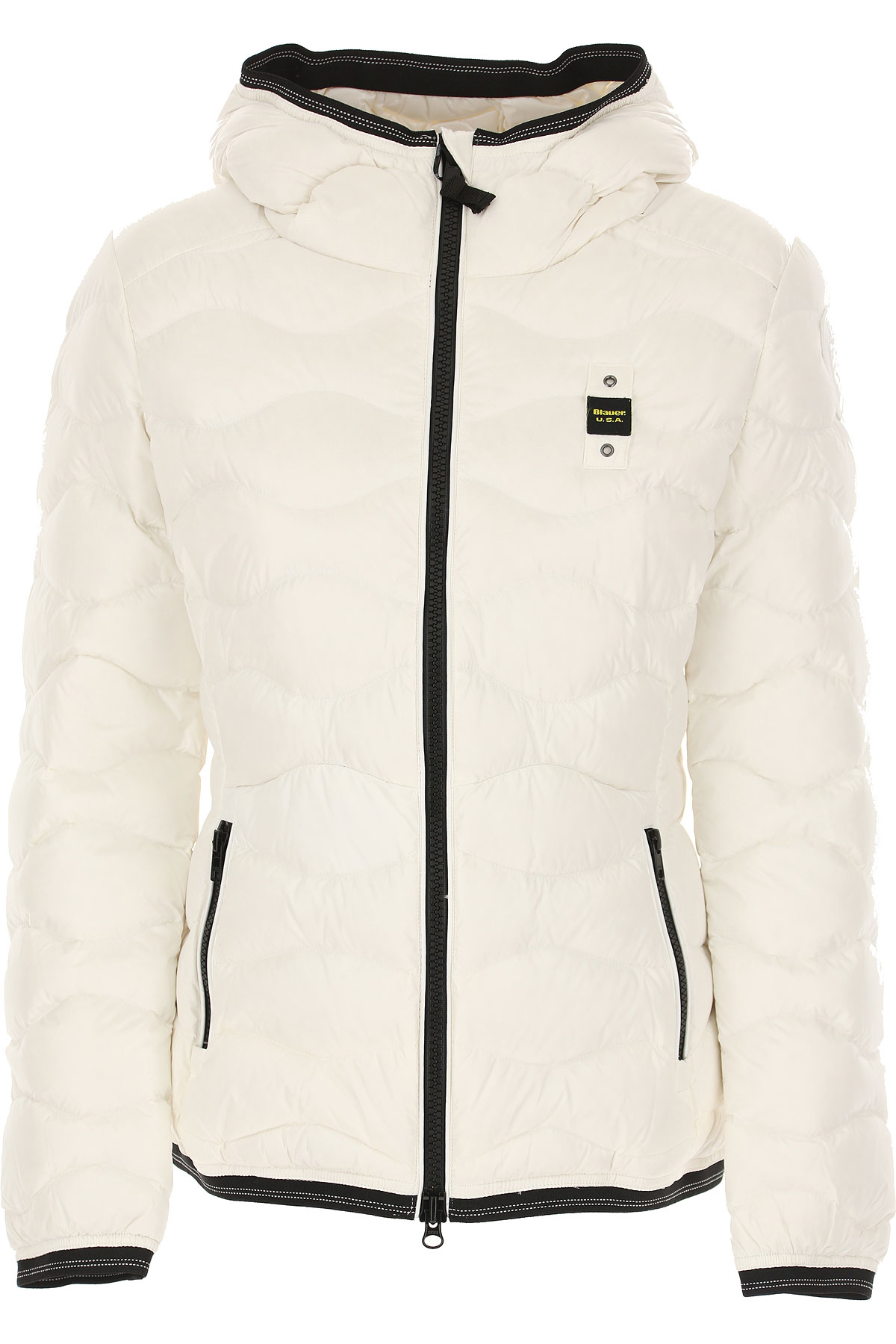 Blauer Down Jacket for Women, Puffer Ski Jacket On Sale, White, polyester, 2019, 4 6