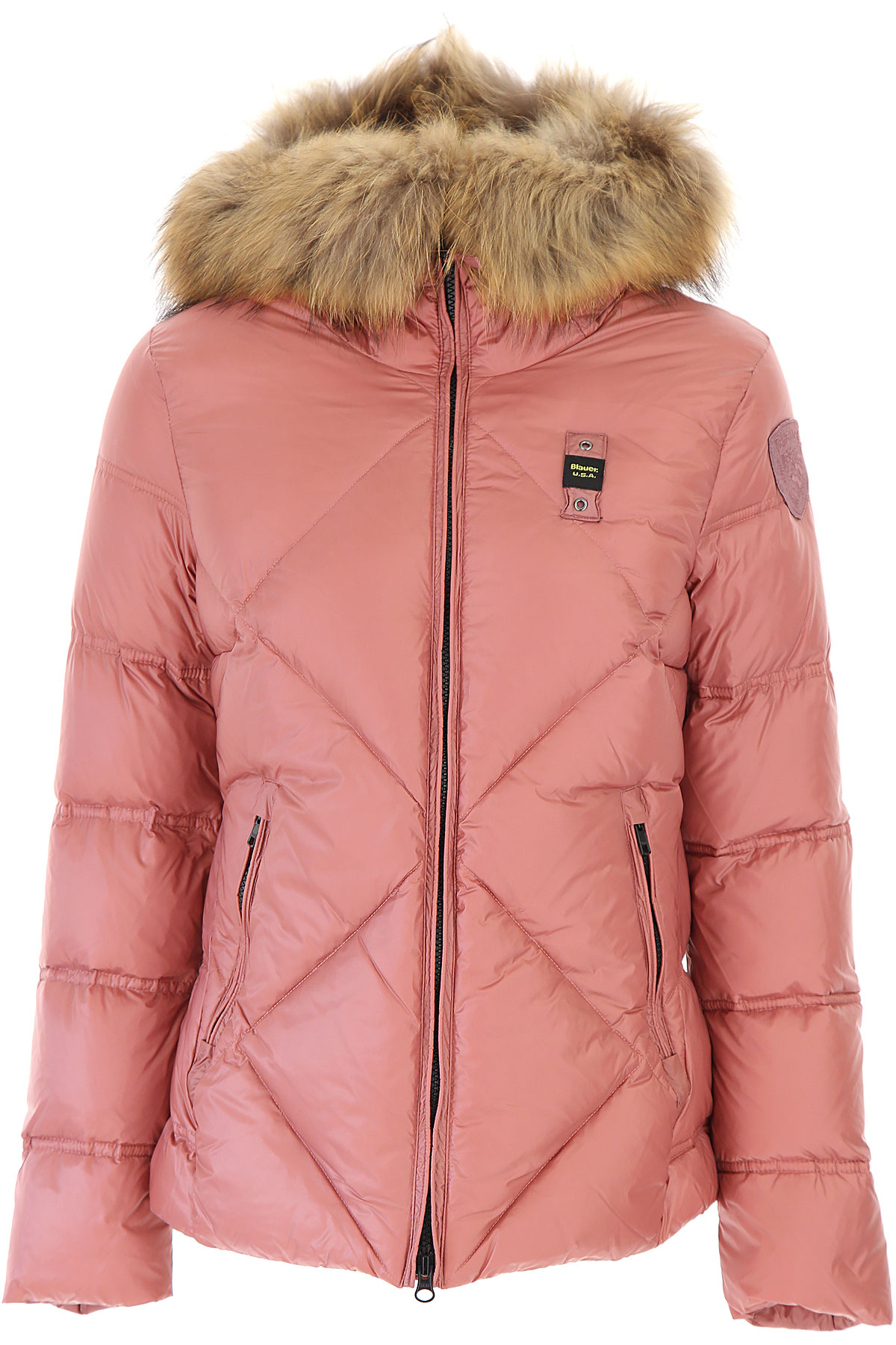 Blauer Down Jacket for Women, Puffer Ski Jacket On Sale, Bright Salmon, polyester, 2019, 2 4 6 8