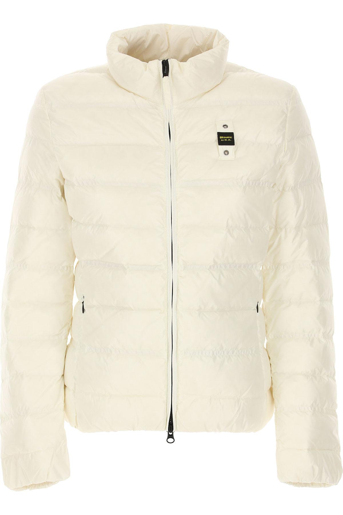Blauer Down Jacket for Women, Puffer Ski Jacket On Sale, White, polyester, 2019, 4 6 8