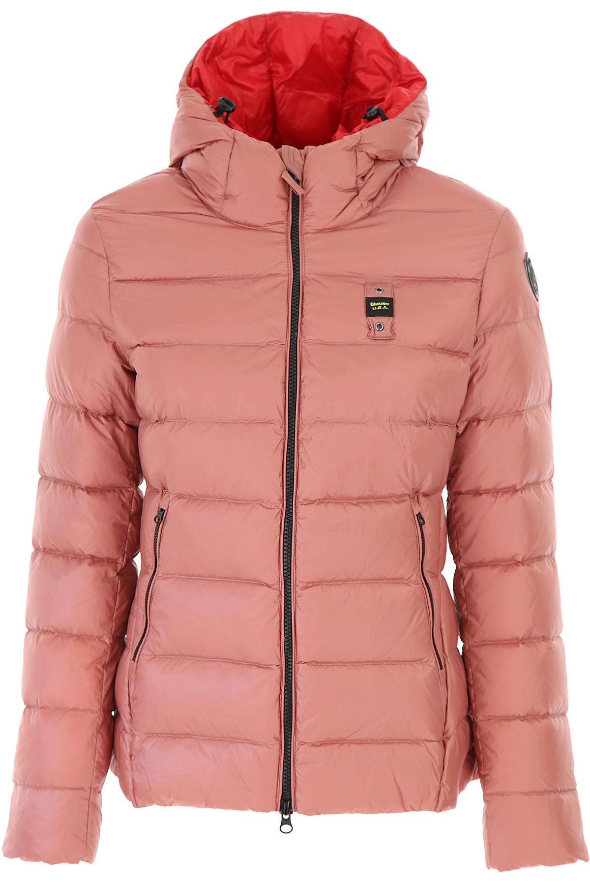 Blauer Down Jacket for Women, Puffer Ski Jacket On Sale, Blush Rose, polyamide, 2019, 2 4 6 8