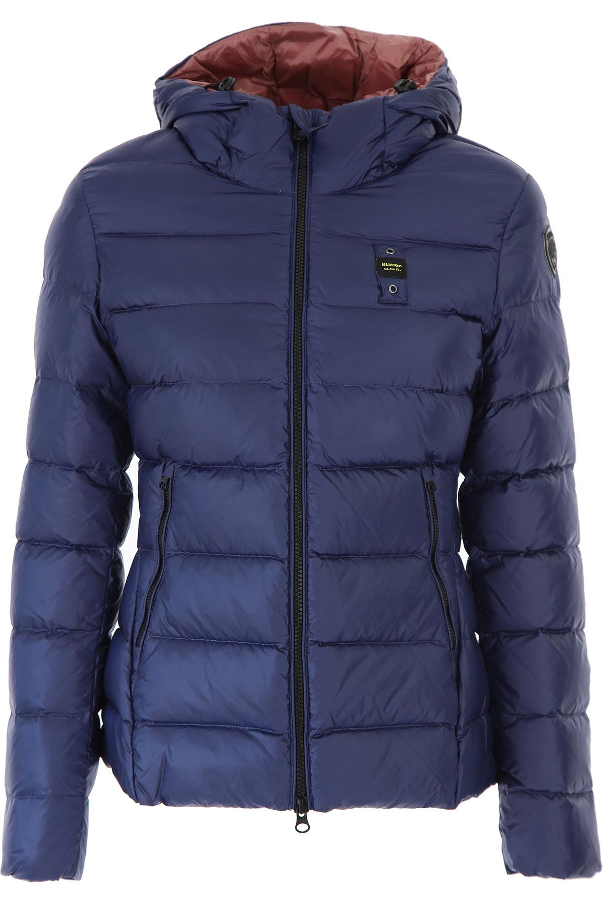 Blauer Down Jacket for Women, Puffer Ski Jacket On Sale, Night Blue, polyester, 2019, 10 2 6