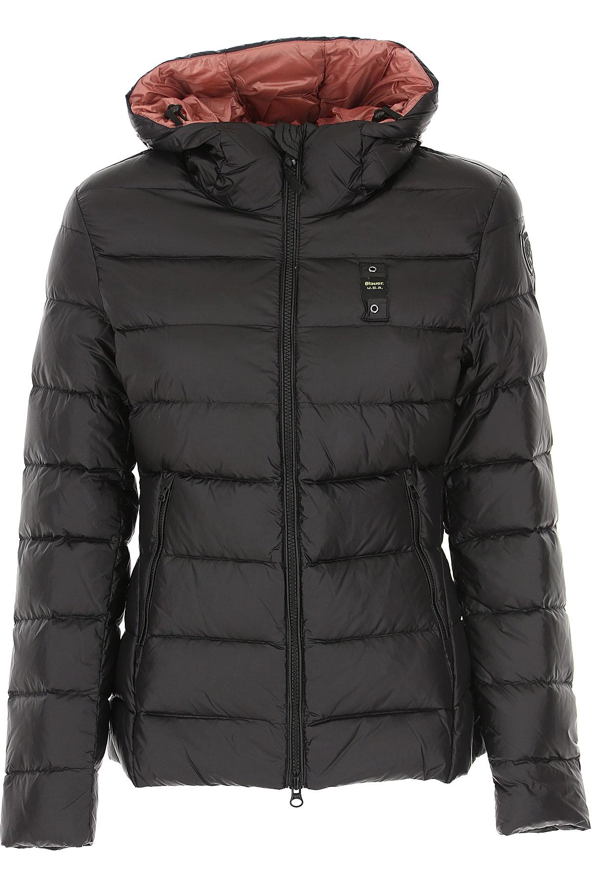 Blauer Down Jacket for Women, Puffer Ski Jacket On Sale, Black, polyester, 2019, 10 2 6 8