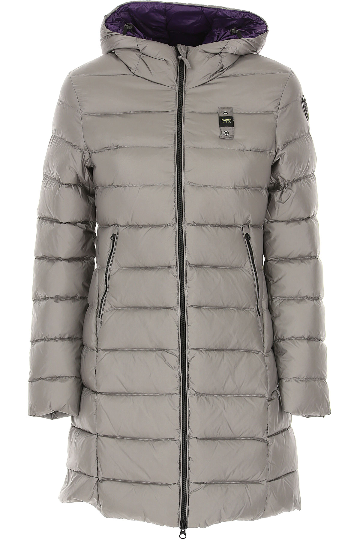 Blauer Down Jacket for Women, Puffer Ski Jacket On Sale, Light Grey, polyester, 2019, 2 4 6 8