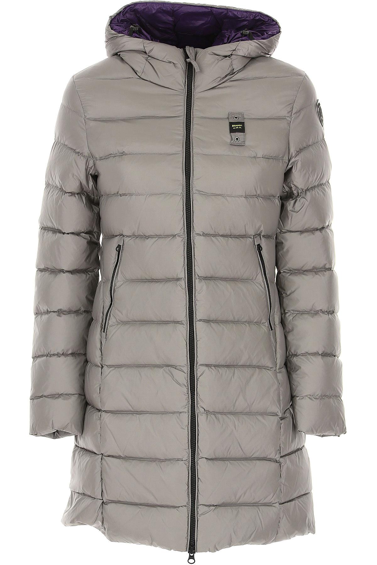 Blauer Down Jacket for Women, Puffer Ski Jacket On Sale, Light Grey, polyester, 2019, 2 4 6 8