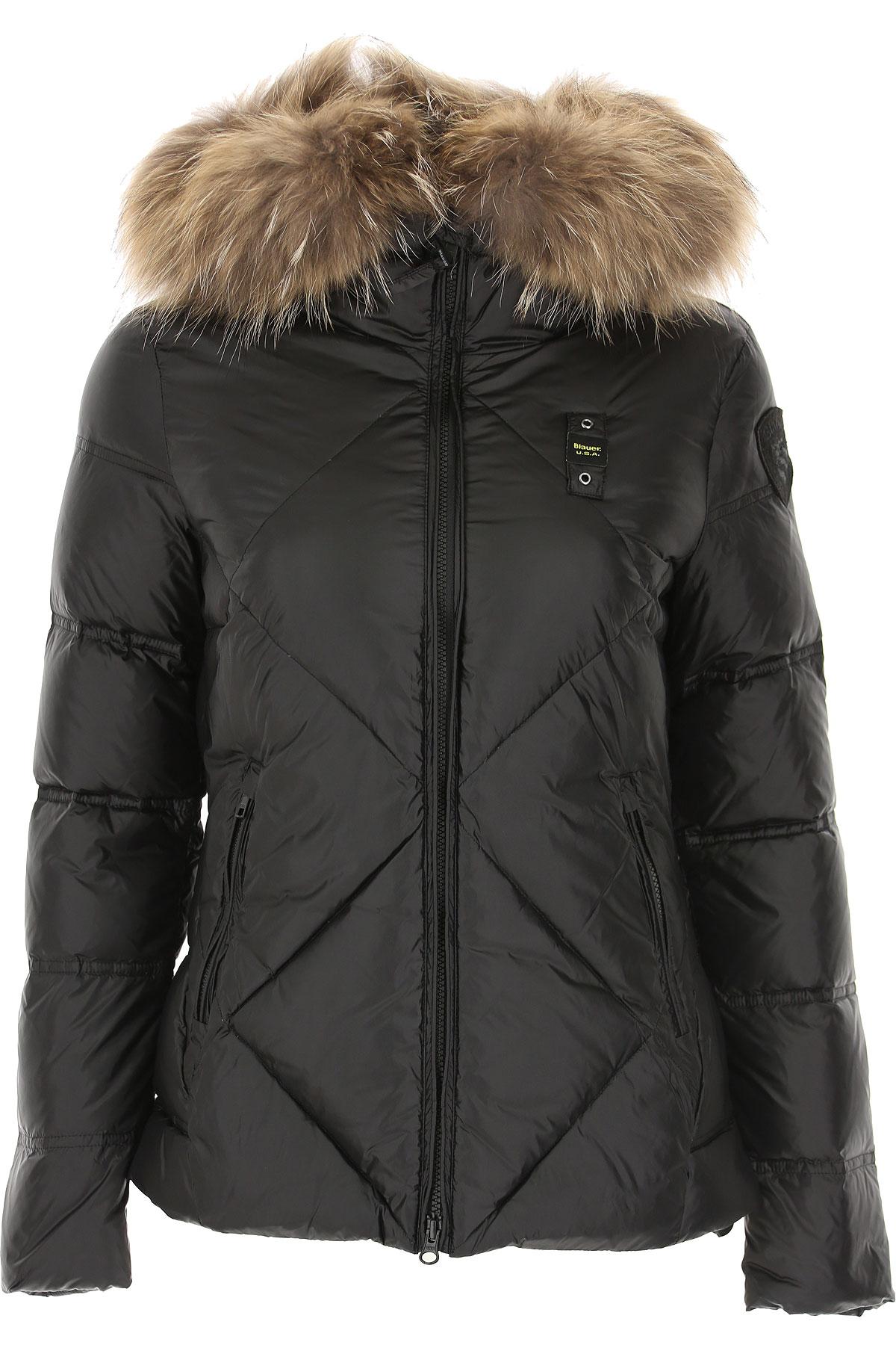 Blauer Down Jacket for Women, Puffer Ski Jacket On Sale, Black, polyester, 2019, 10 2 4 6
